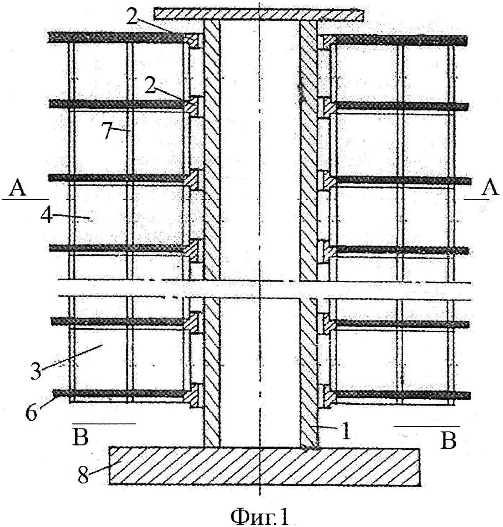 Многоэтажное здание с несущим центральным стволом