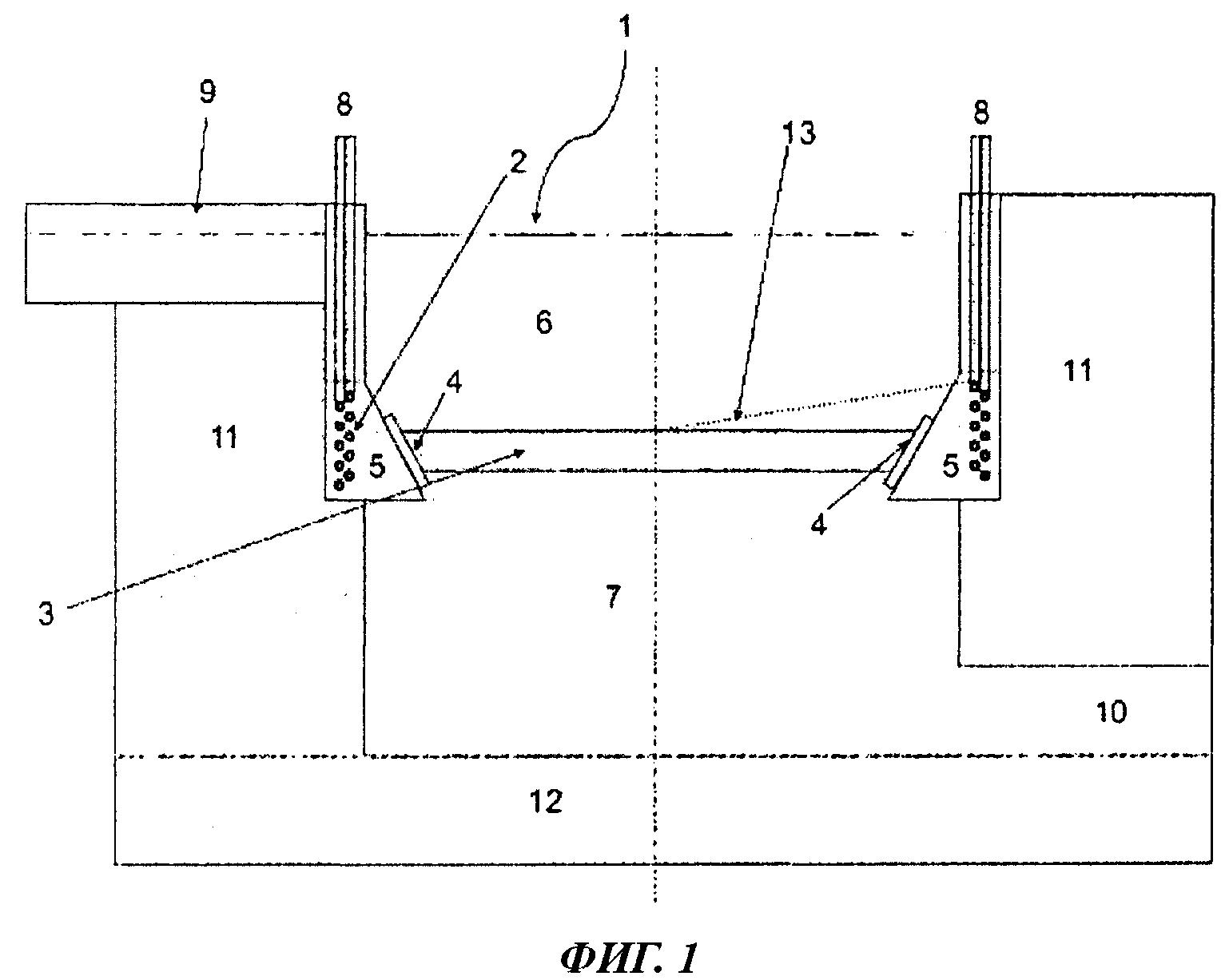 Устройство и способ заливки фильтра для расплавленного металла