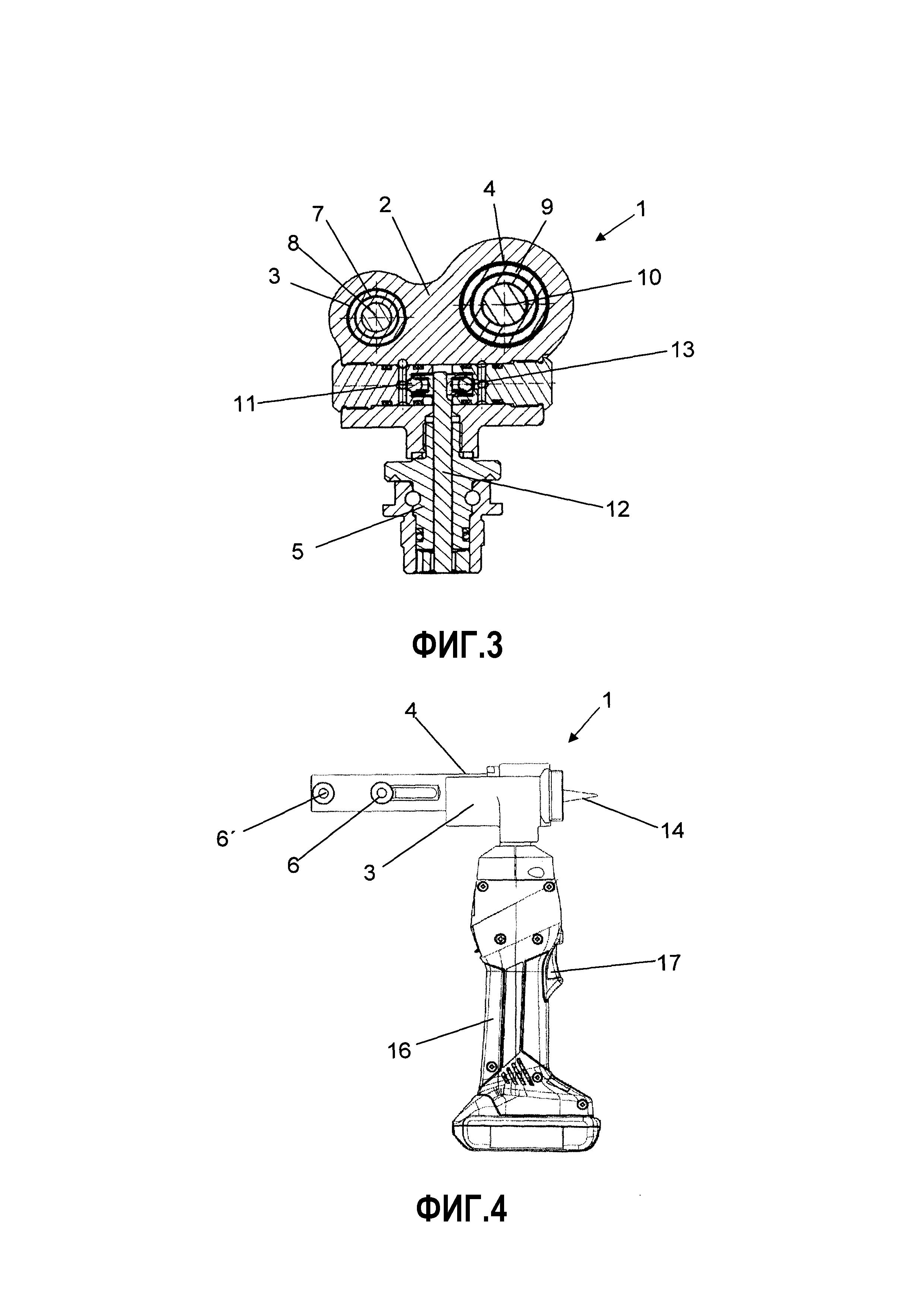 Инструментальное устройство для присоединения пластиковой трубы или металлопластиковой композитной трубы к фитингу с надвижной или напрессовочной гильзой