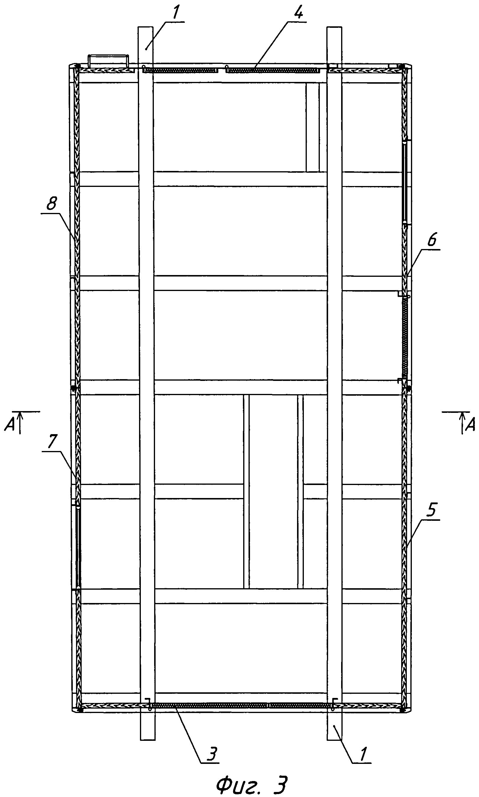 Сборно-разборное сооружение на санях