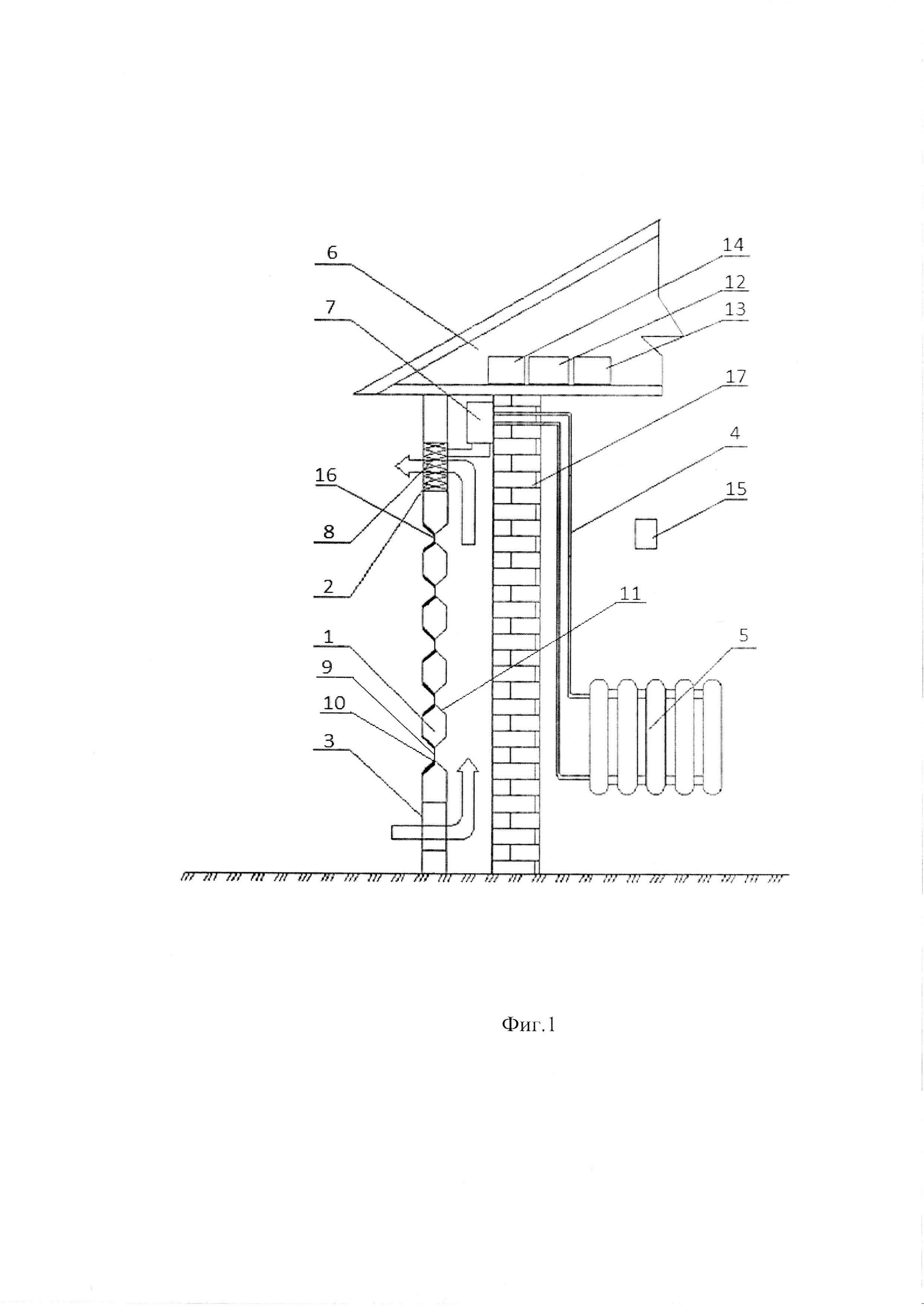 Комбинированная система для отопления и электроснабжения зданий с вентилируемым фасадом