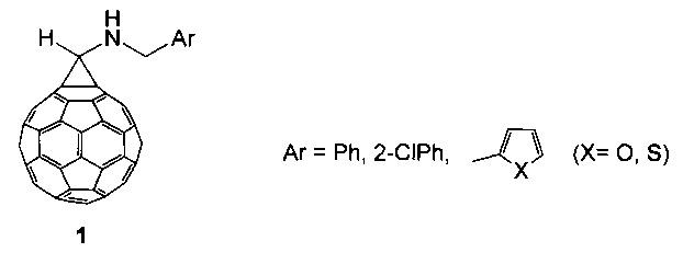 СПОСОБ ПОЛУЧЕНИЯ 1'-[N-(АРИЛМЕТИЛ)АМИНО]-(C-I) [5,6]ФУЛЛЕРО[2',3':1,9]ЦИКЛОПРОПАНОВ