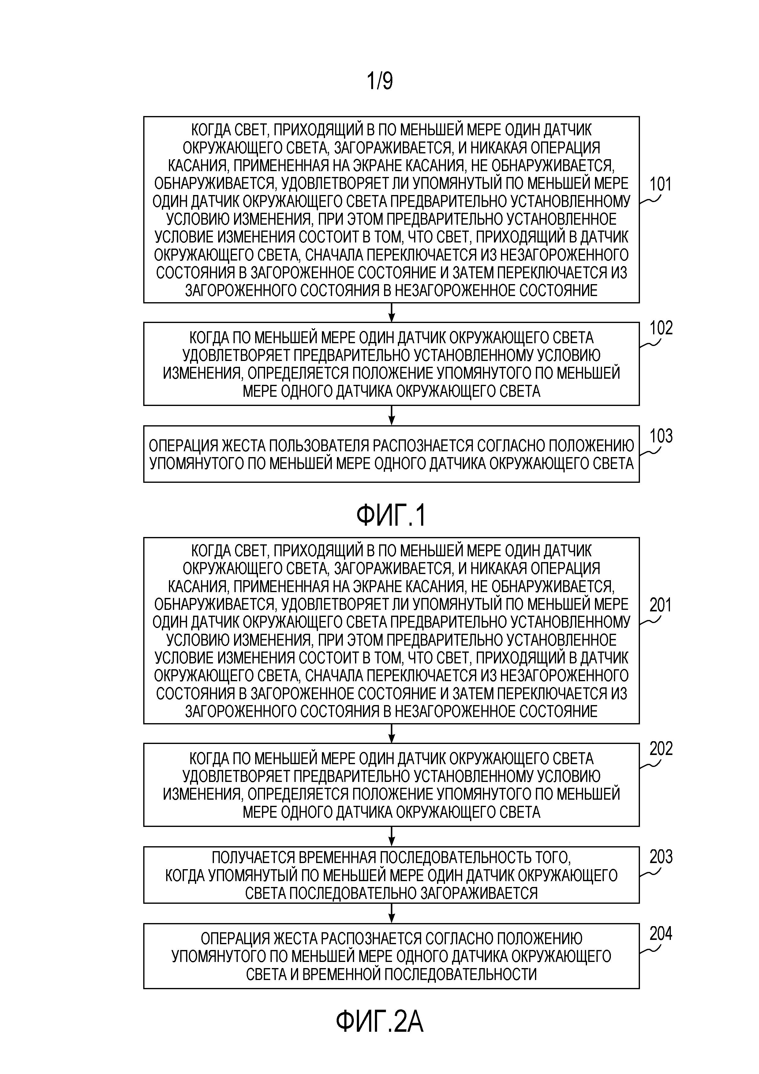 Способ и устройство для распознавания жеста