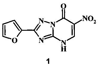 2-фурил-6-нитро-1,2,4-триазоло[1,5-а]пиримидин-7-он
