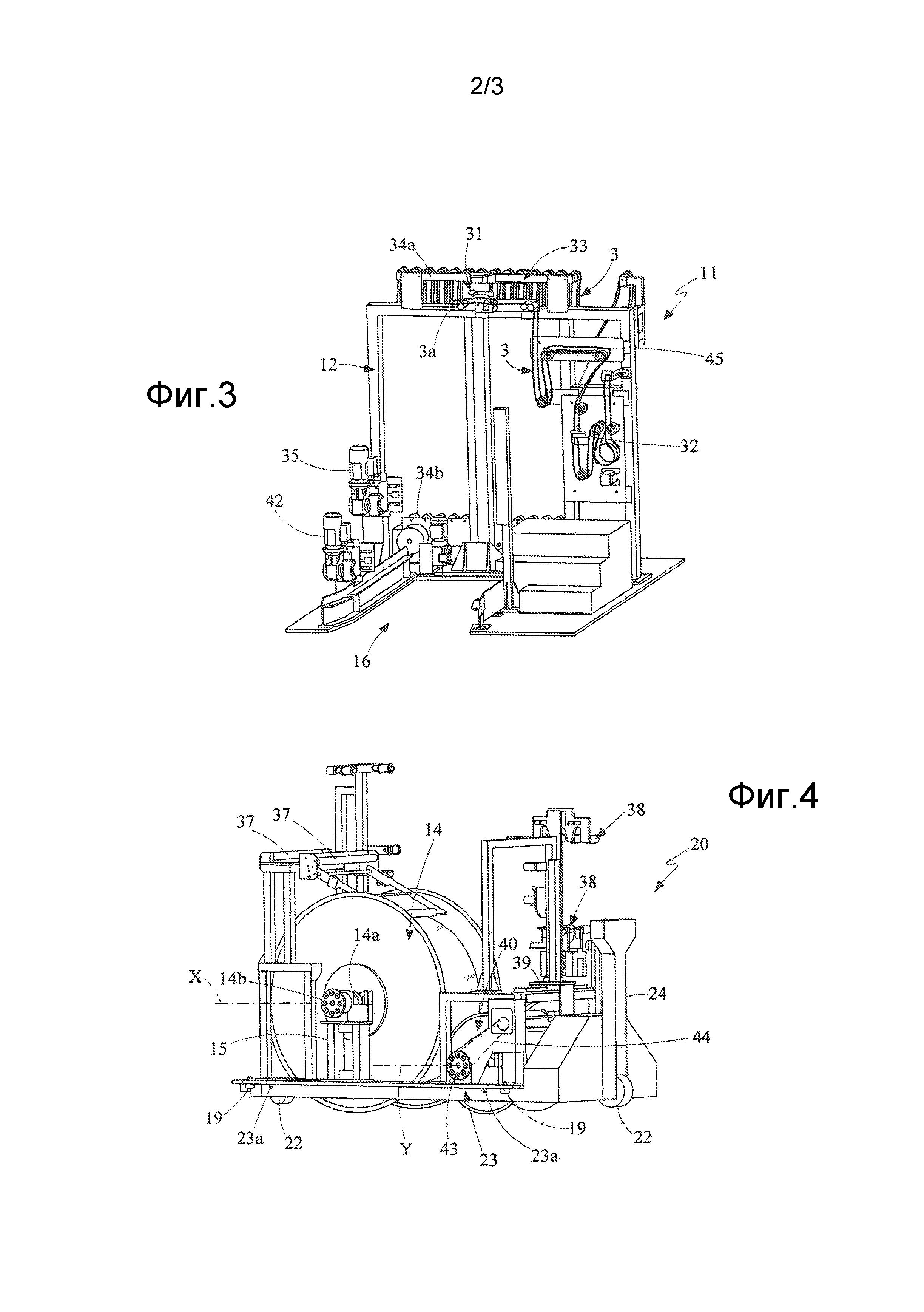 Способ управления подачей удлиненного элемента на станцию для сборки шин