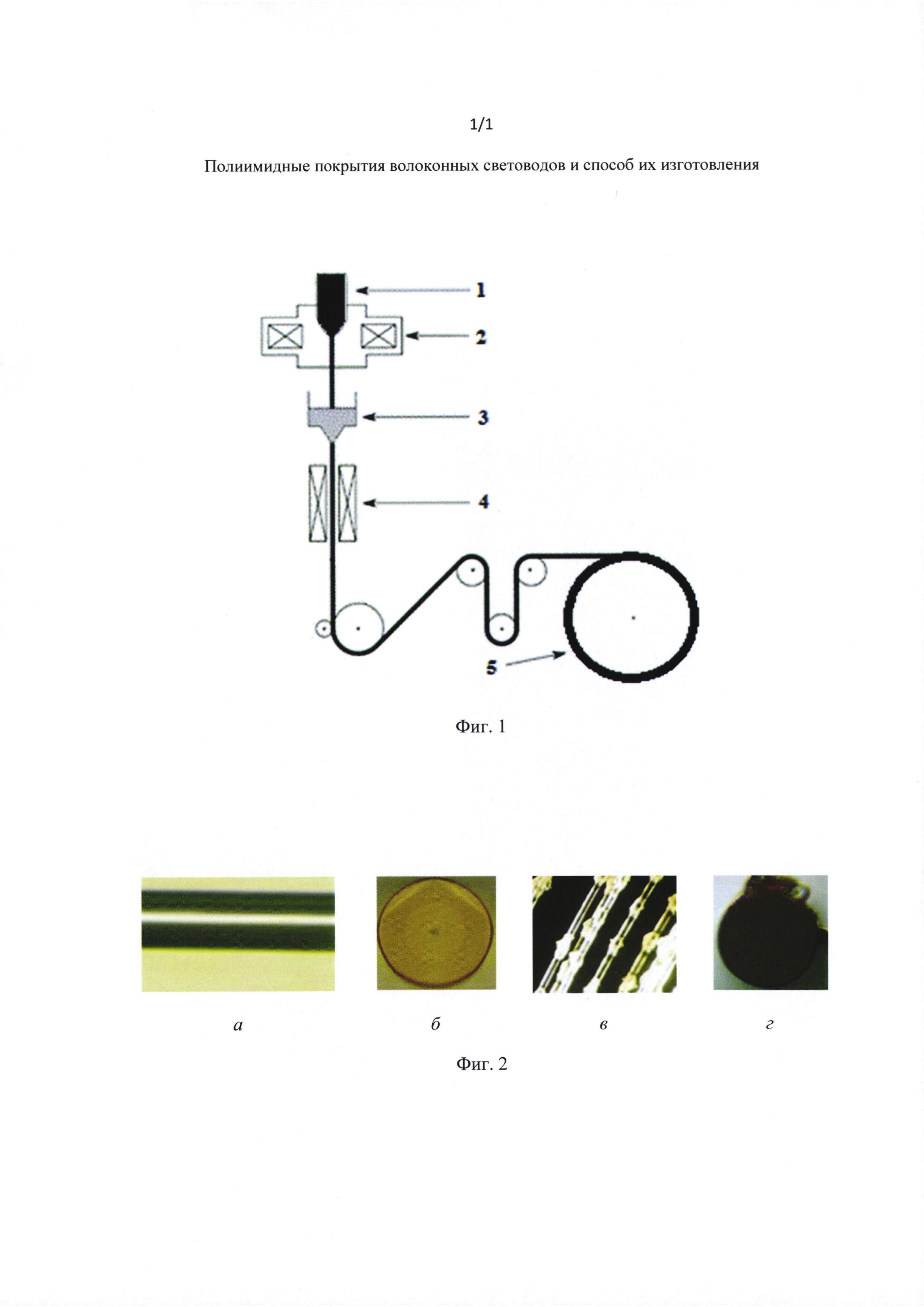 Полиимидное покрытие волоконных световодов и способ его изготовления