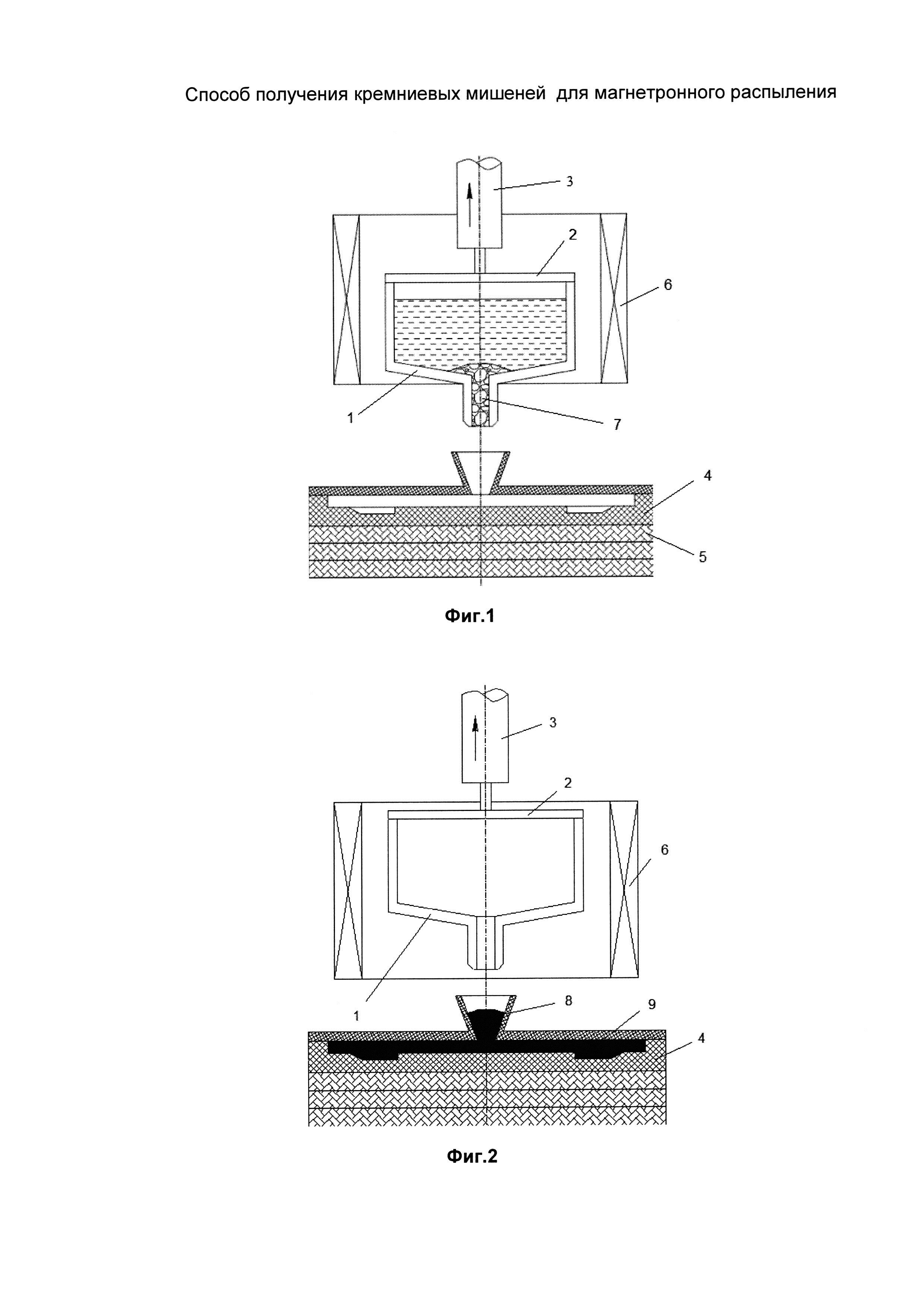Способ получения кремниевых мишеней для магнетронного распыления
