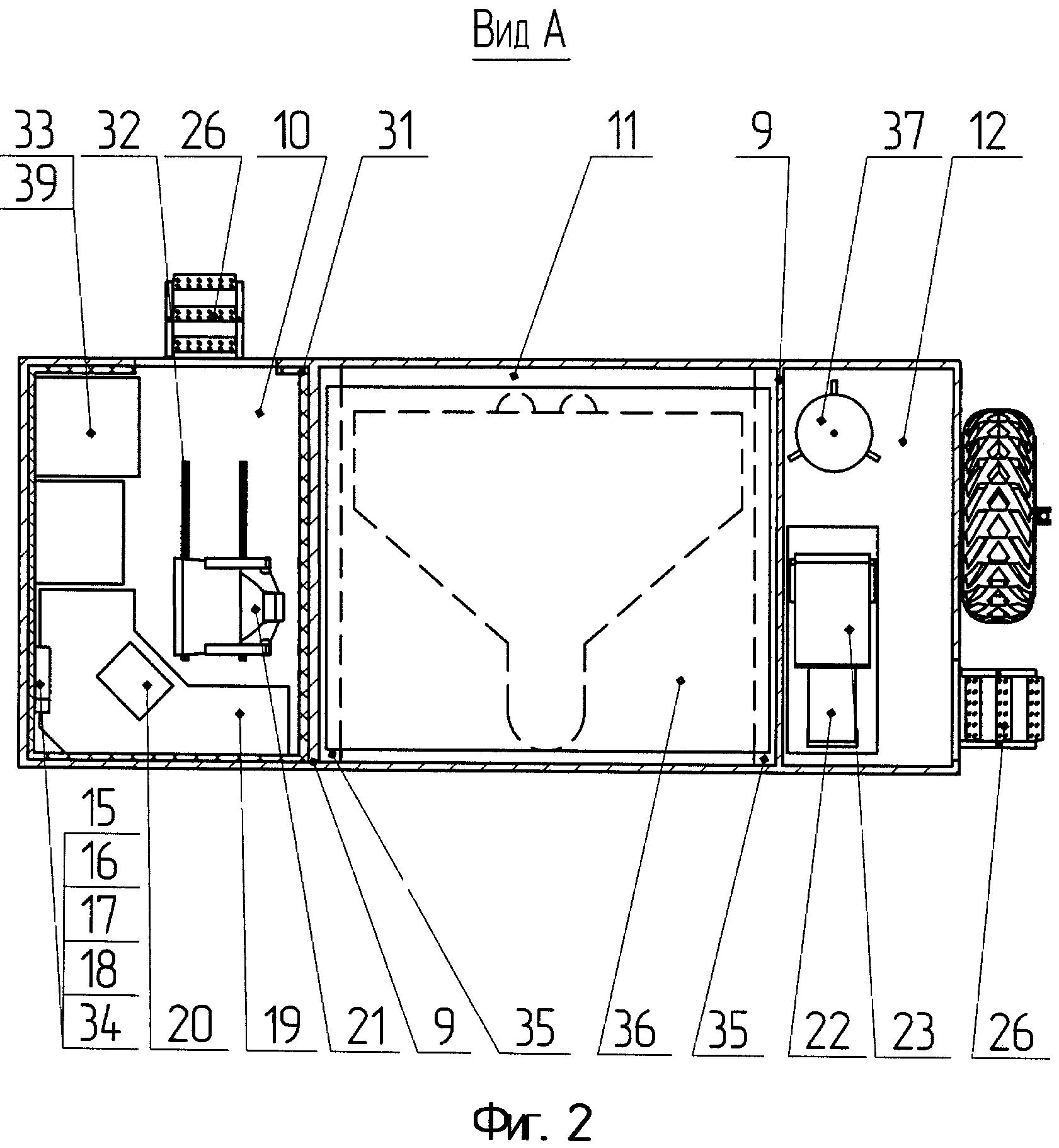 Наземный пункт управления на базе шасси специального транспортного средства