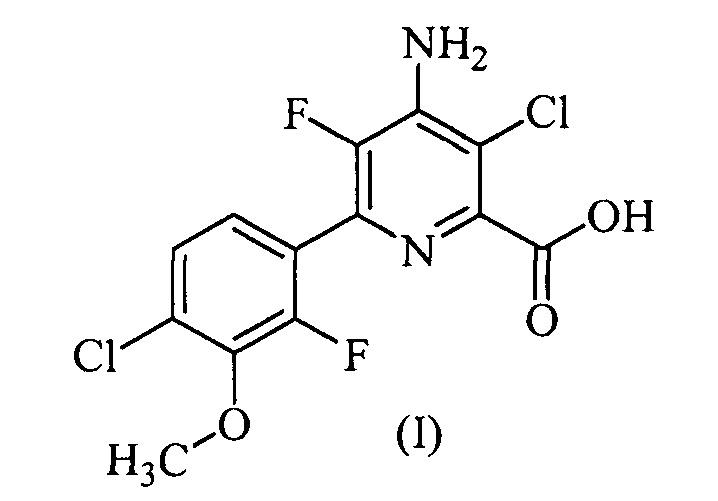 Гербицидные композиции, содержащие 4-амино-3-хлор-5-фтор-6-(4-хлор-2-фтор-3-метоксифенил)пиридин-2-карбоновую кислоту