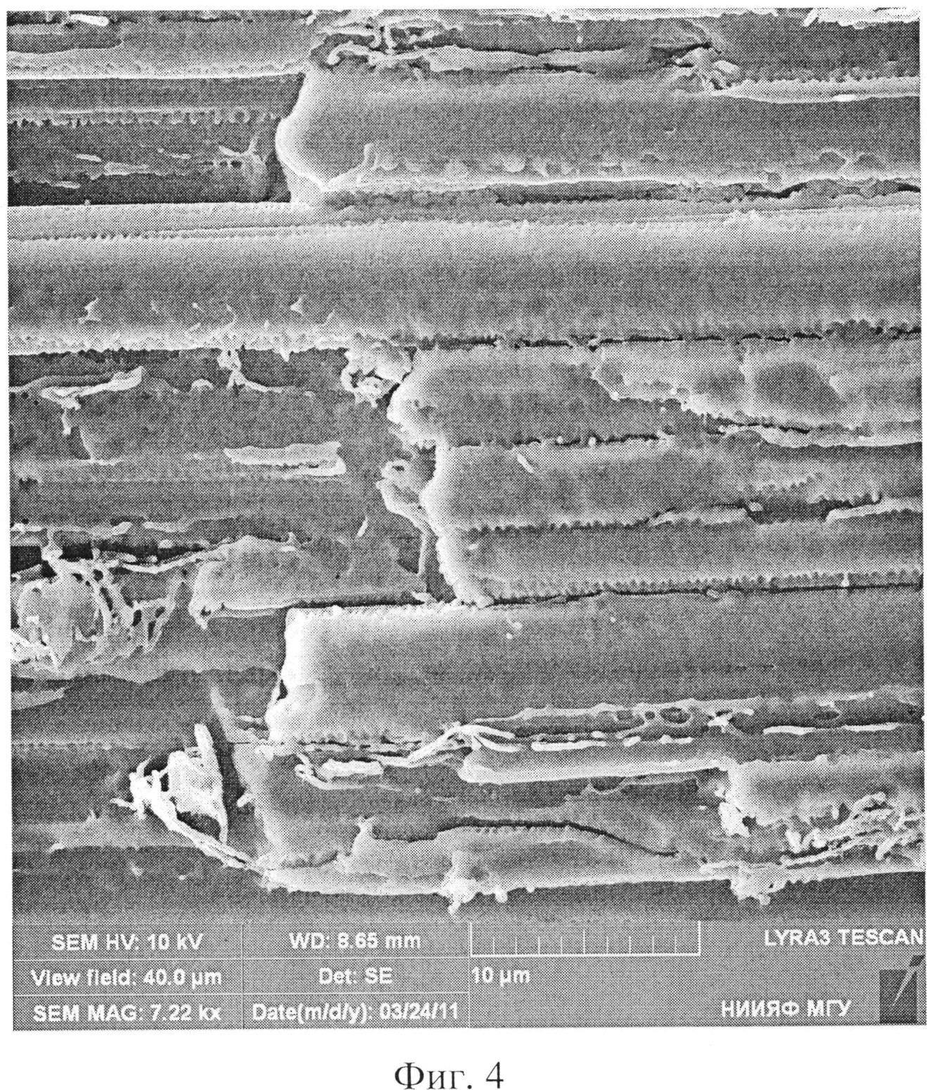 Углеродное высокомодульное волокно с модифицированной поверхностью для армирования композитов и способ ее модификации