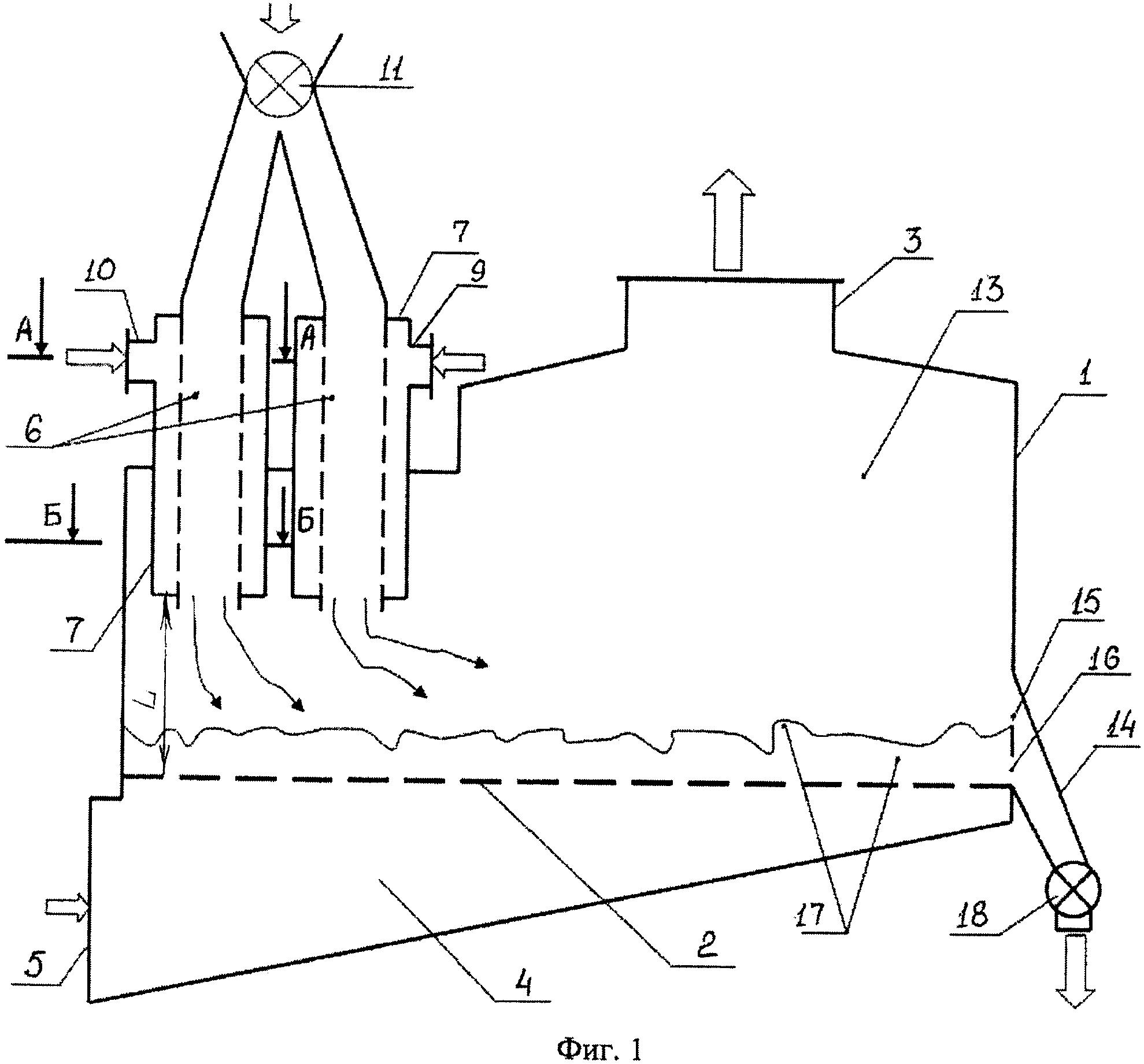 Сушильное устройство с псевдоожиженным слоем