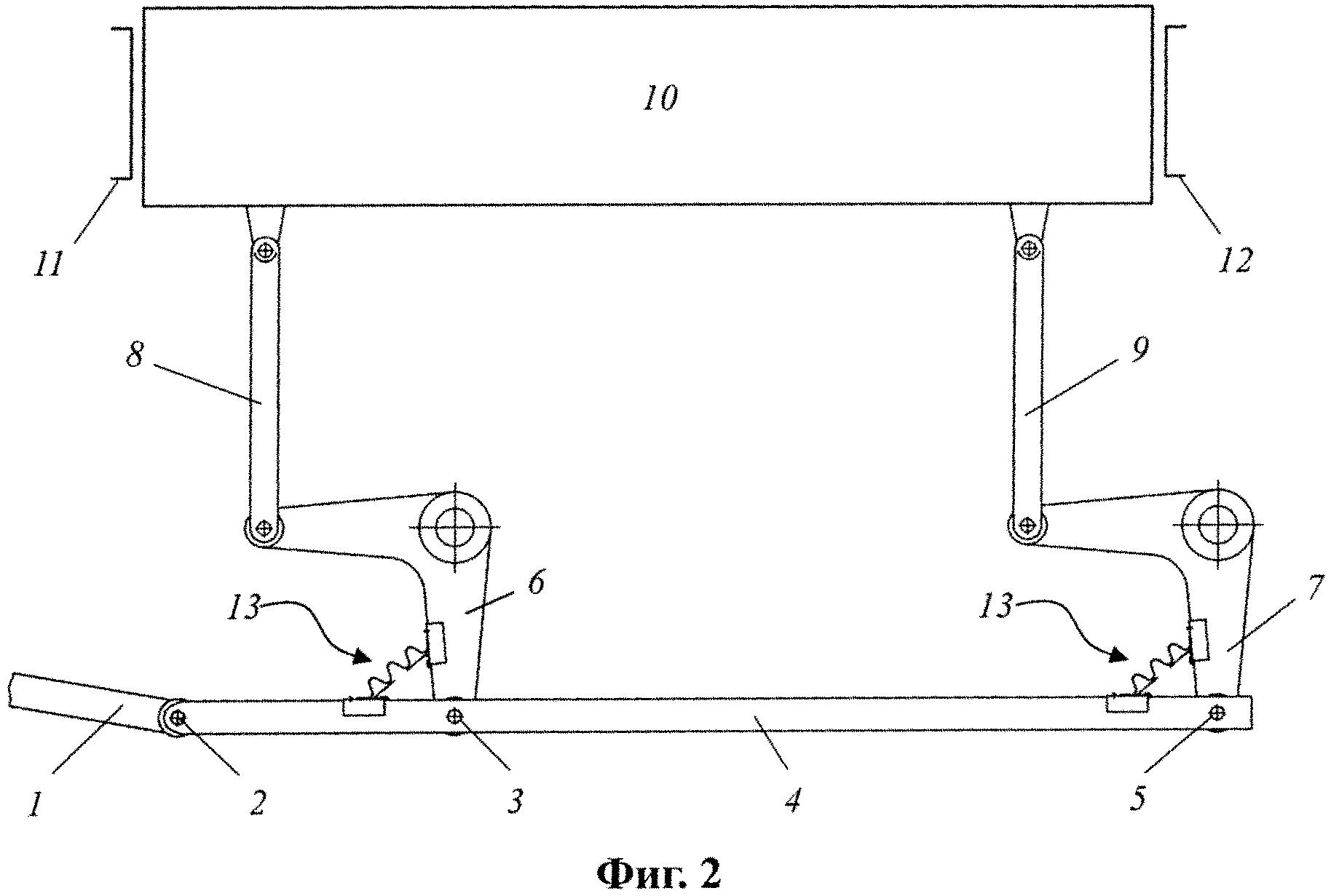 Механизм передачи движения ремизке