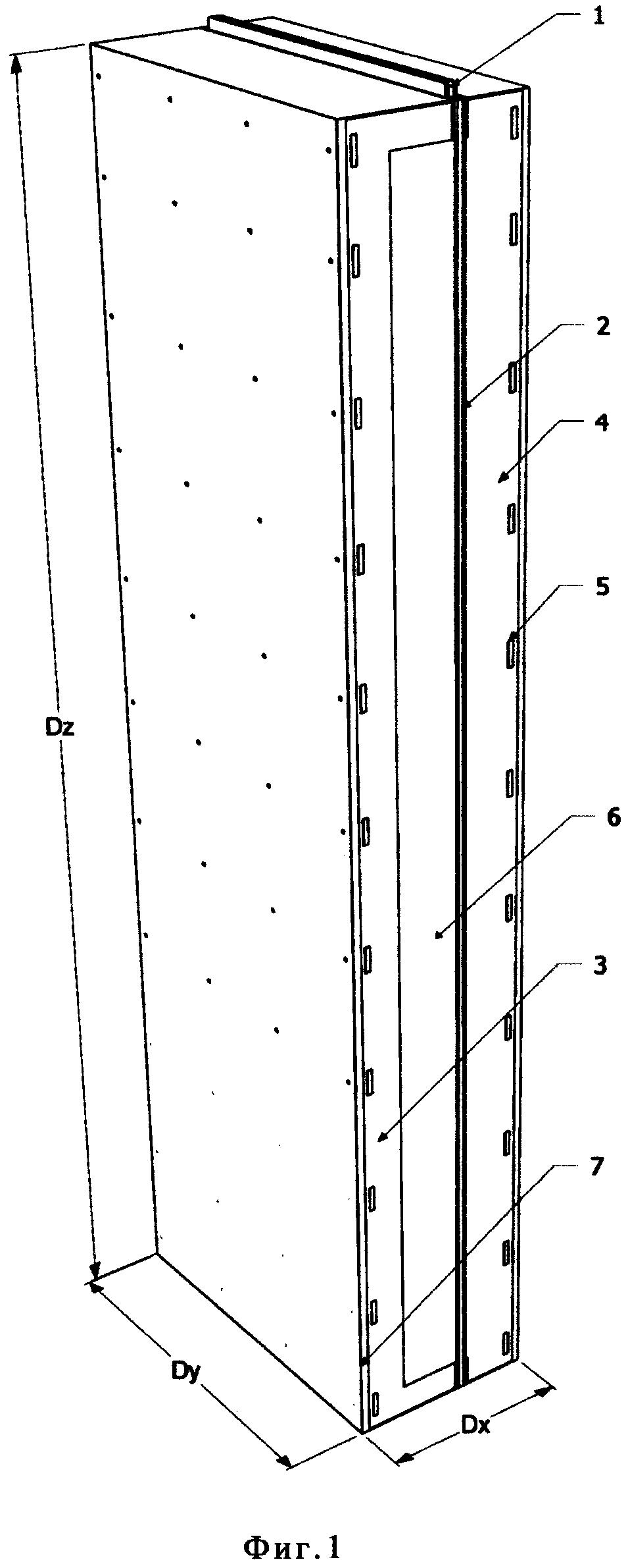 Строительный модуль и г-образный переходник