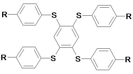 Способ получения 1,2,4,5-тетракис(4-R-фенилсульфанил)бензолов