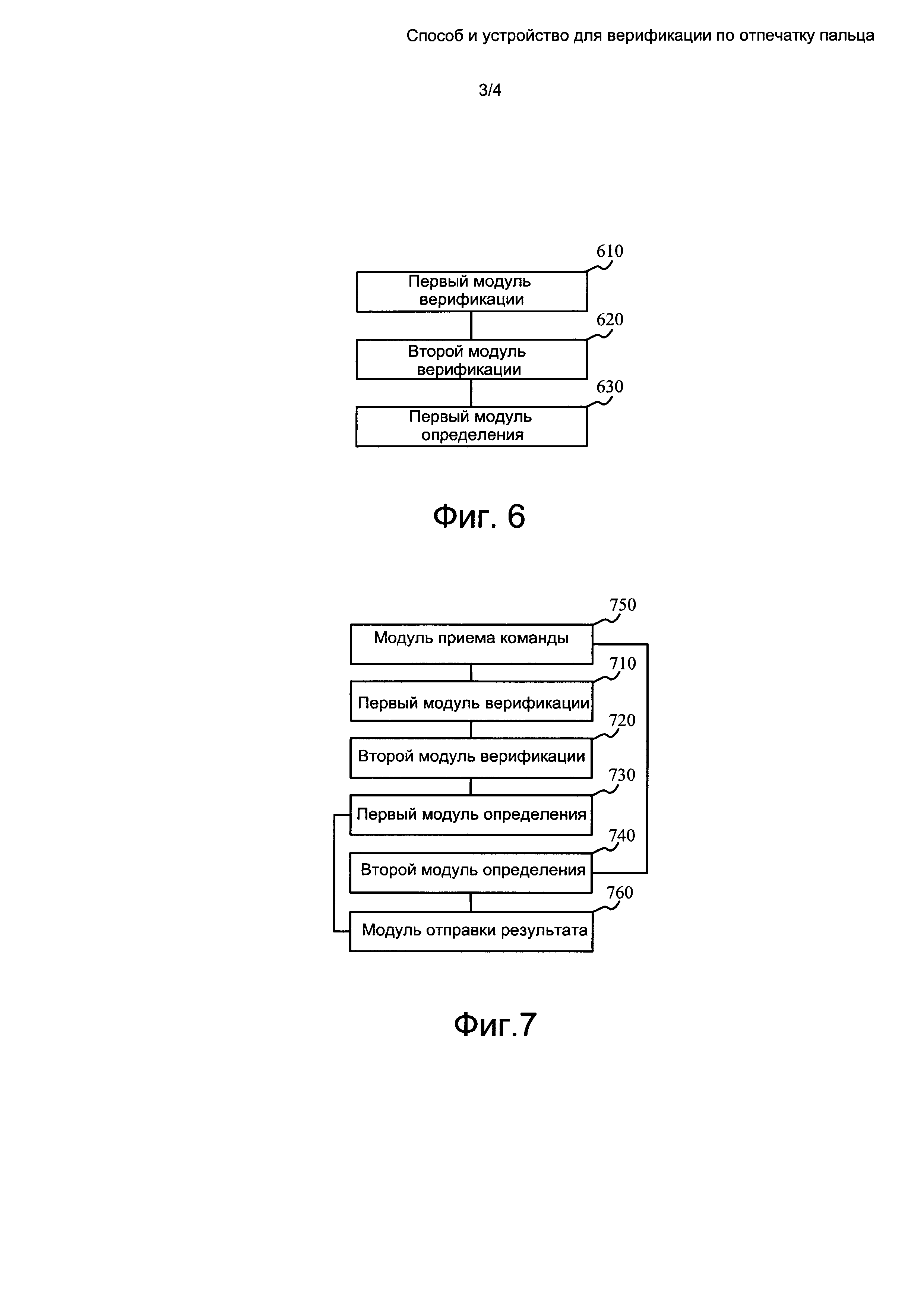 Способ и устройство для верификации по отпечатку пальца