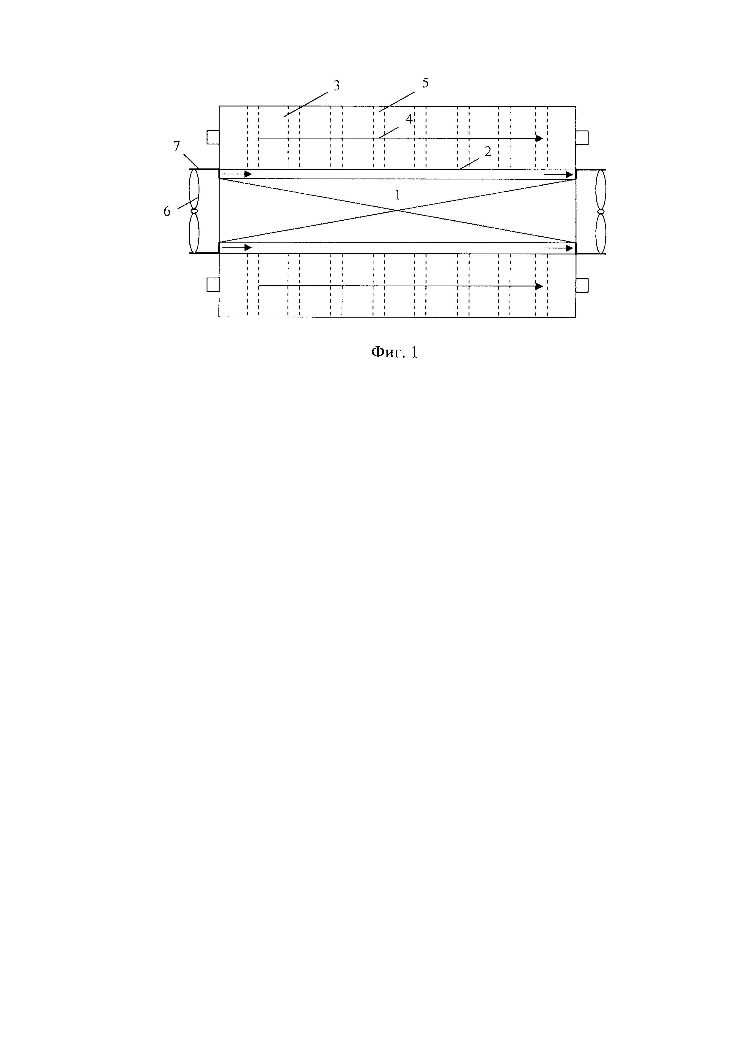 Термоэлектрический интенсификатор теплопередачи между потоками сред с различной температурой