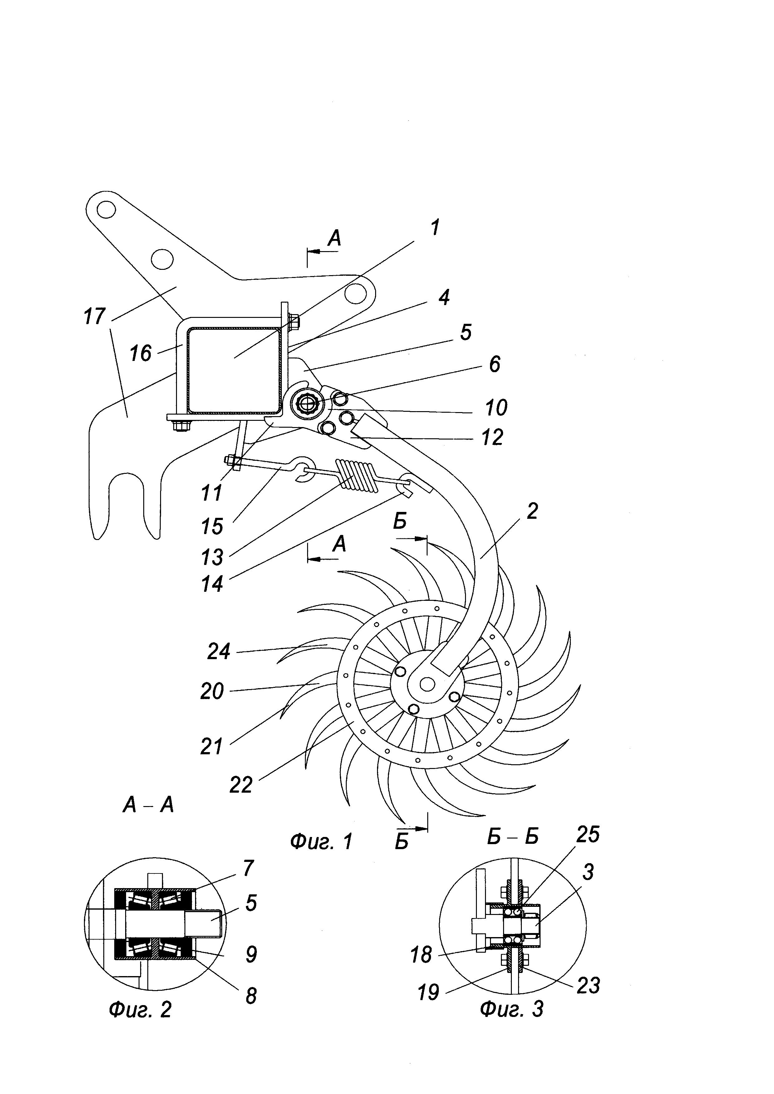 Борона-мотыга ротационная и зубчатый диск рабочего органа (варианты)
