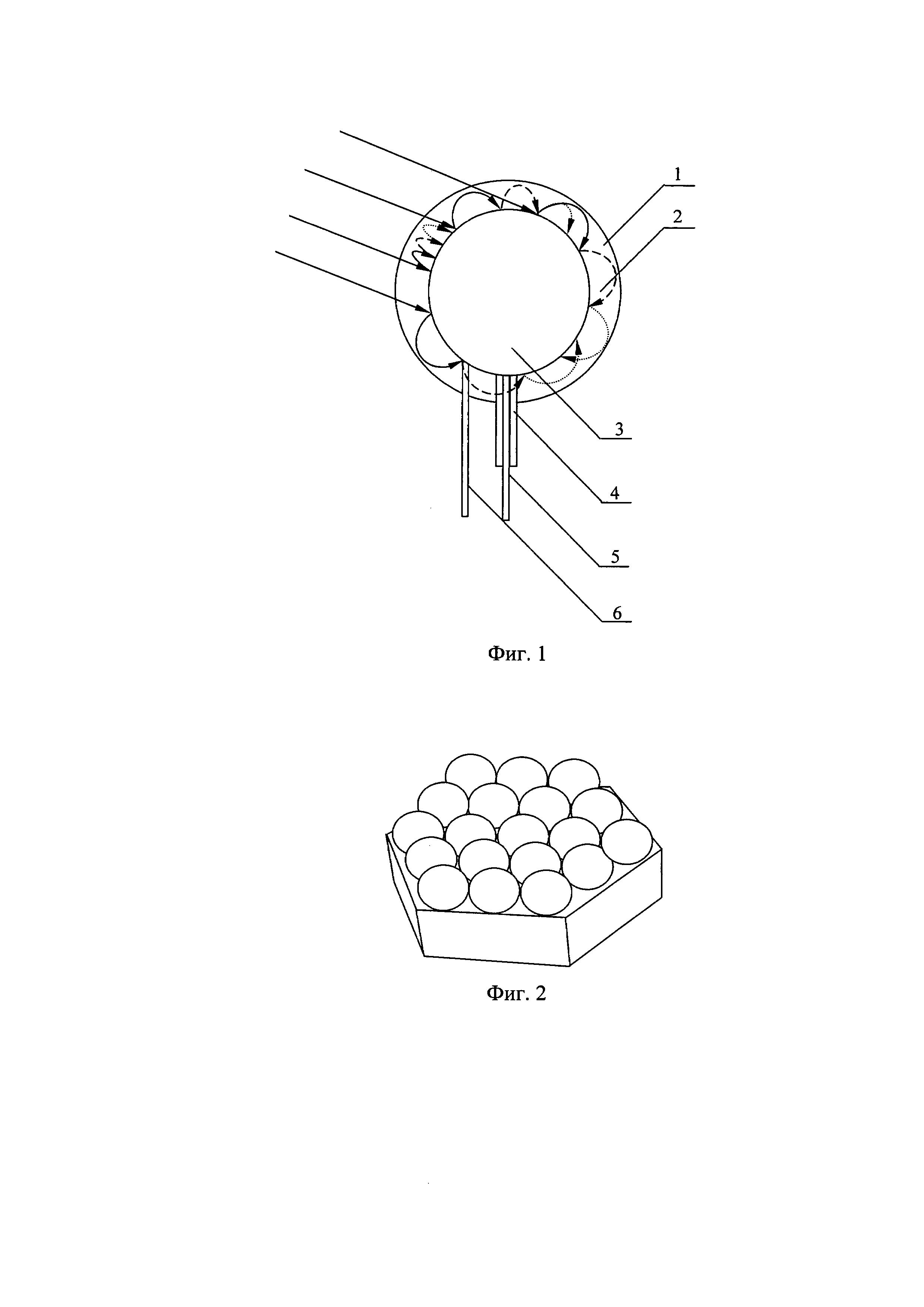 Шарообразная солнечная батарея с многократным преломлением и отражением лучей в концентраторе
