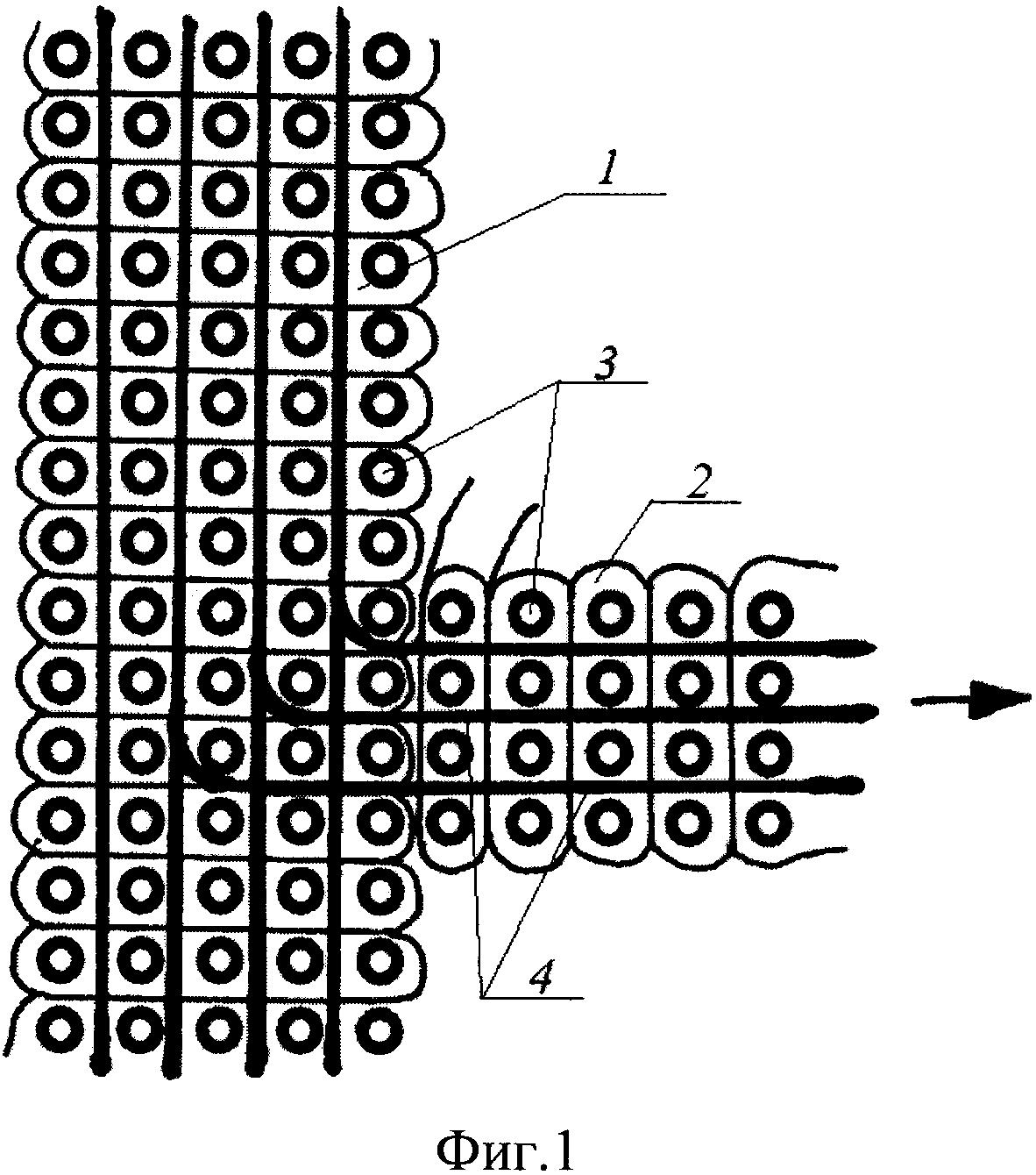 Цельнотканая многослойная оболочка с ребрами жесткости и способ её формирования