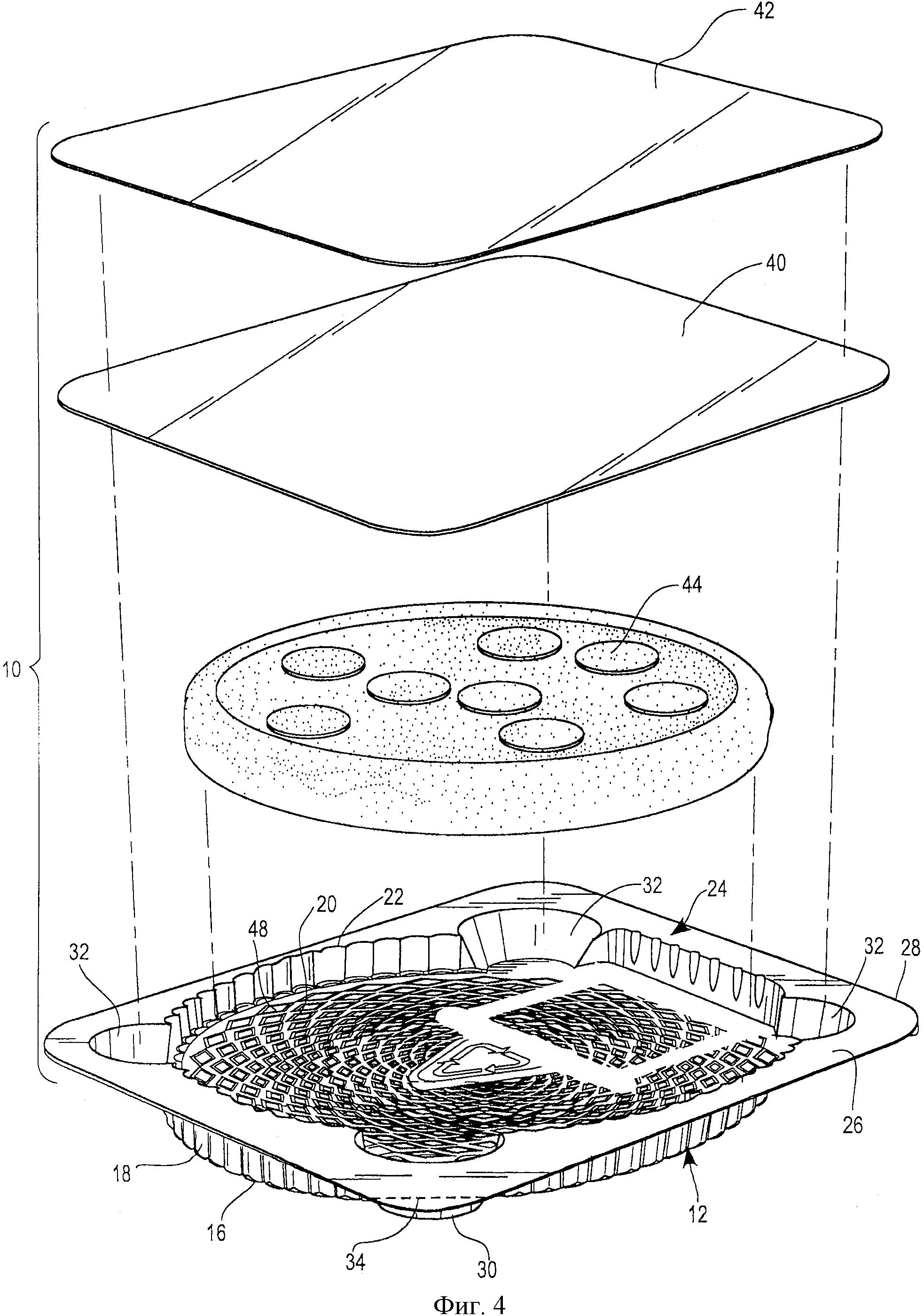 Упаковка для амортизации пищевого продукта