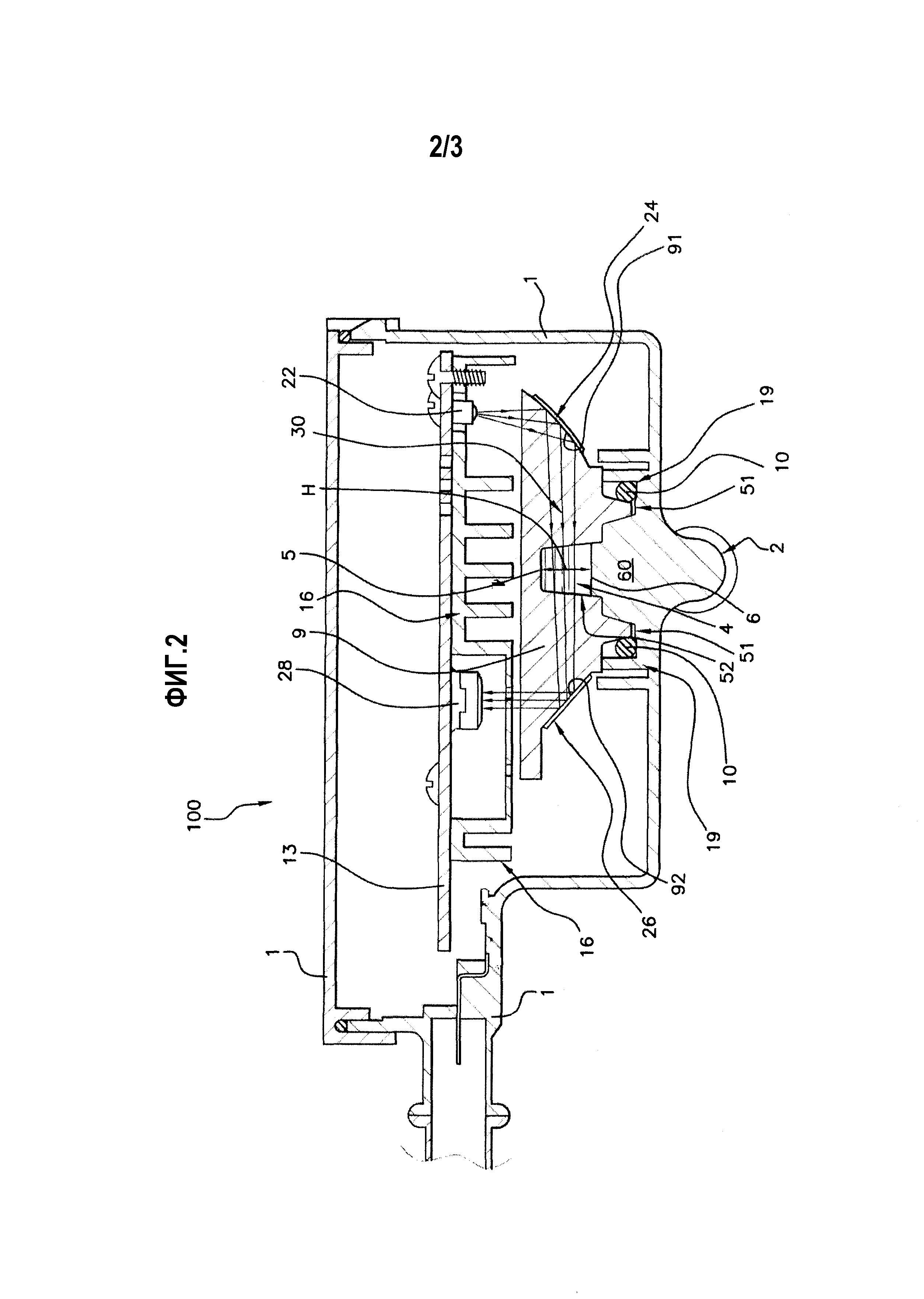 Инфракрасный оптический датчик, включающий в себя ячейку для измерения пропускания