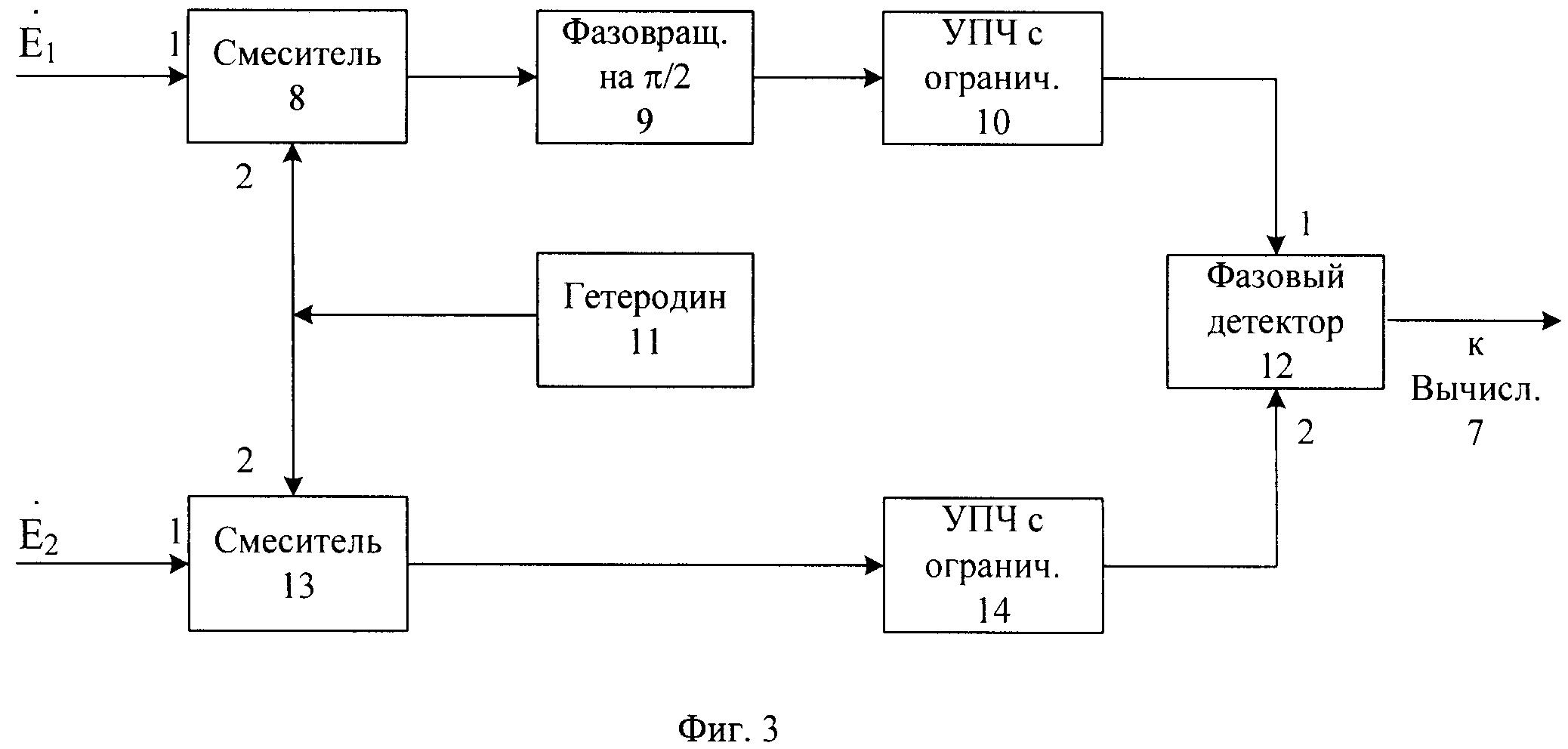 Радионавигационная система для измерения пеленга подвижного объекта