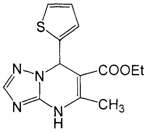 Способ получения 6-этоксикарбонил-7-(тиен-2-ил)-5-метил-4,7-дигидро-1,2,4-триазоло[1,5-а]пиримидина, обладающего высокой туберкулостатической активностью
