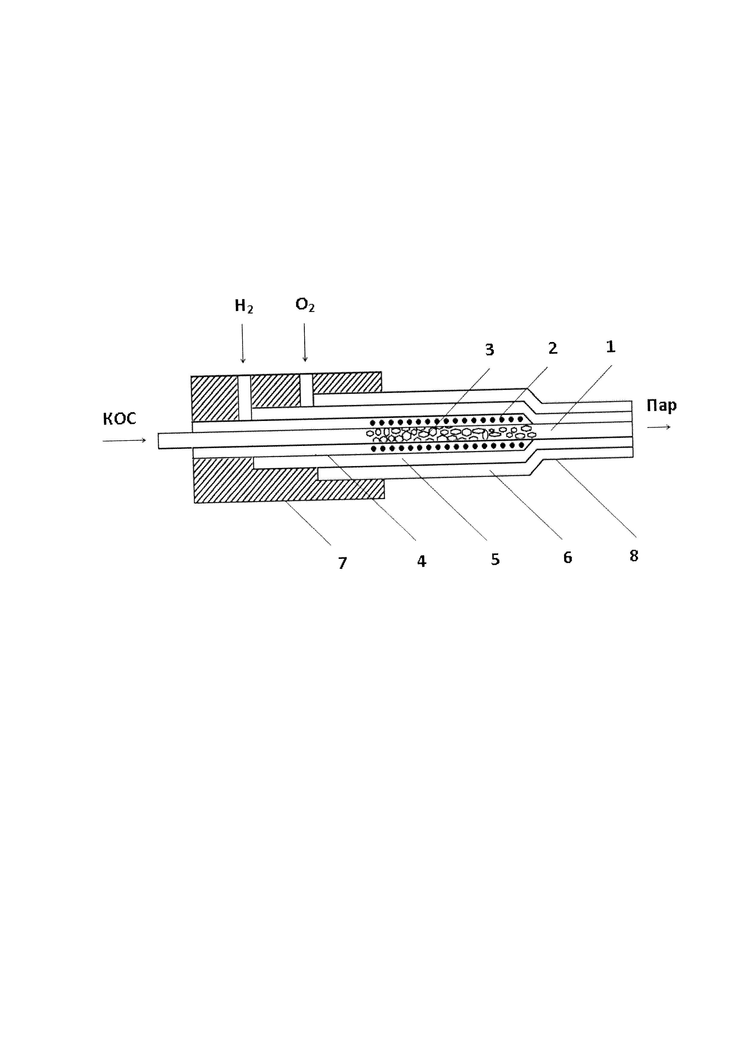Конструкция горелки для получения кварцевого стекла из жидких кремнийорганических соединений