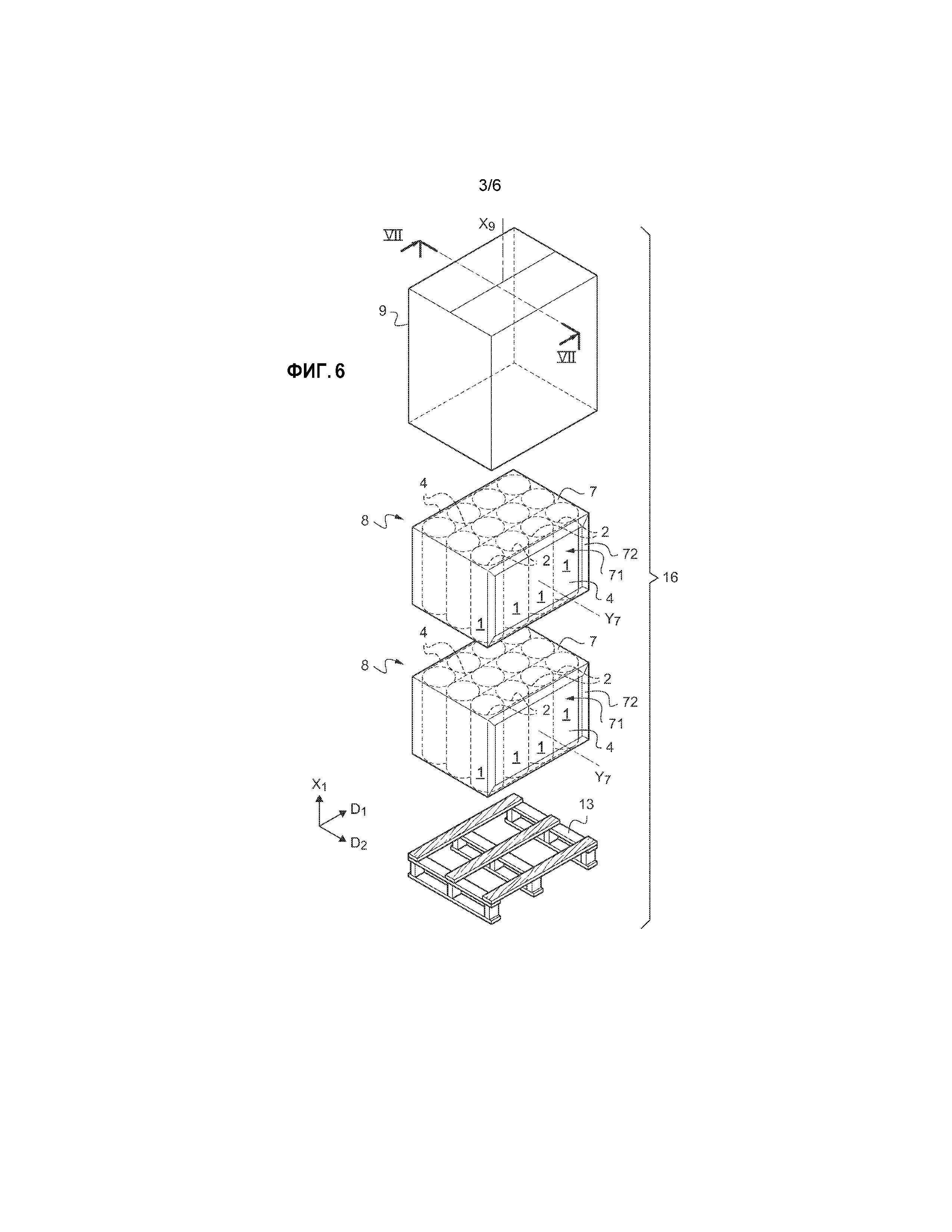 Упаковка с изоляционными изделиями и способ изготовления такой упаковки