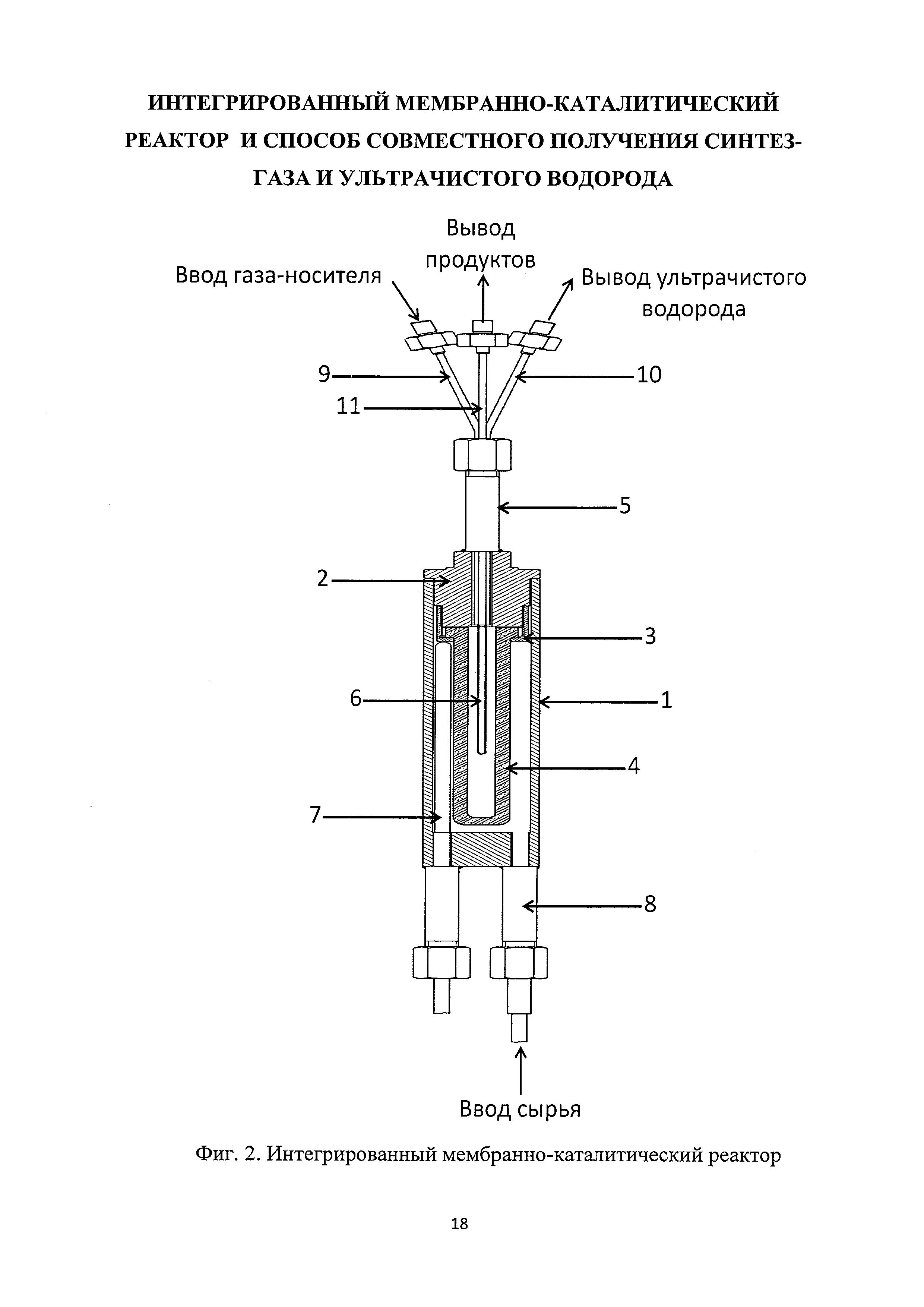 Интегрированный мембранно-каталитический реактор и способ совместного получения синтез-газа и ультрачистого водорода