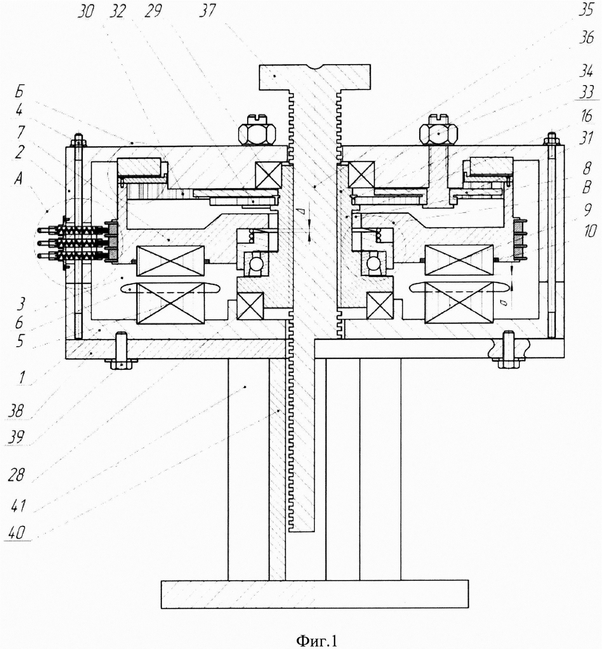 Самотормозящийся винтовой домкрат с аксиальным электродвигателем