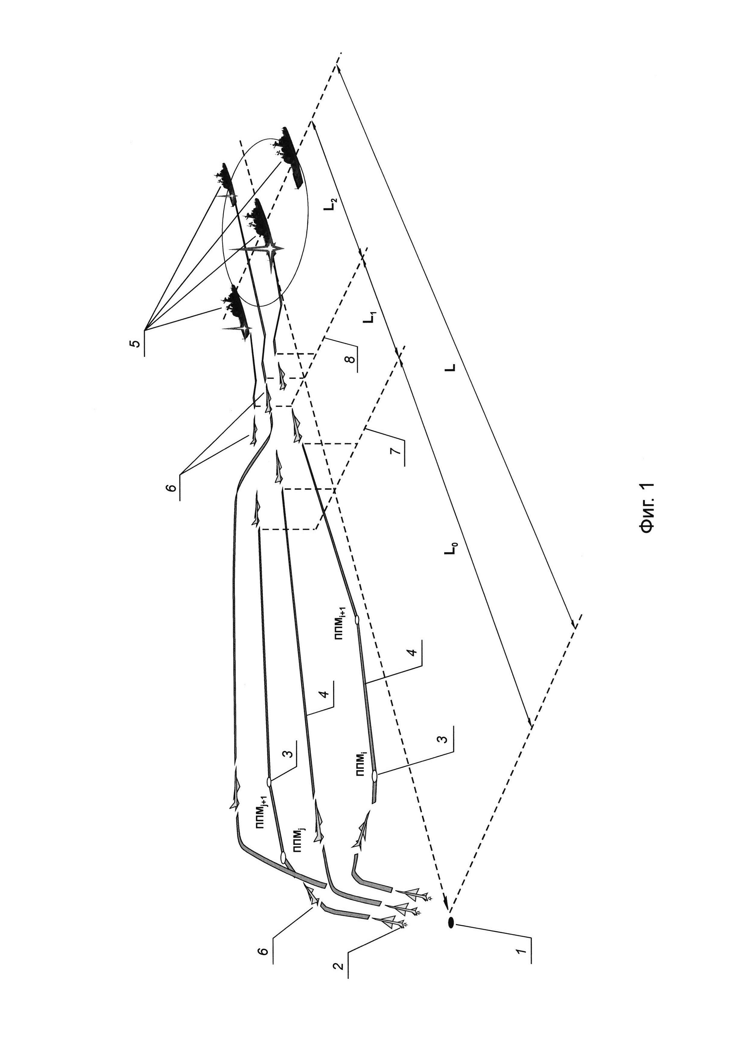 Способ поражения цели залпом атмосферных летательных аппаратов