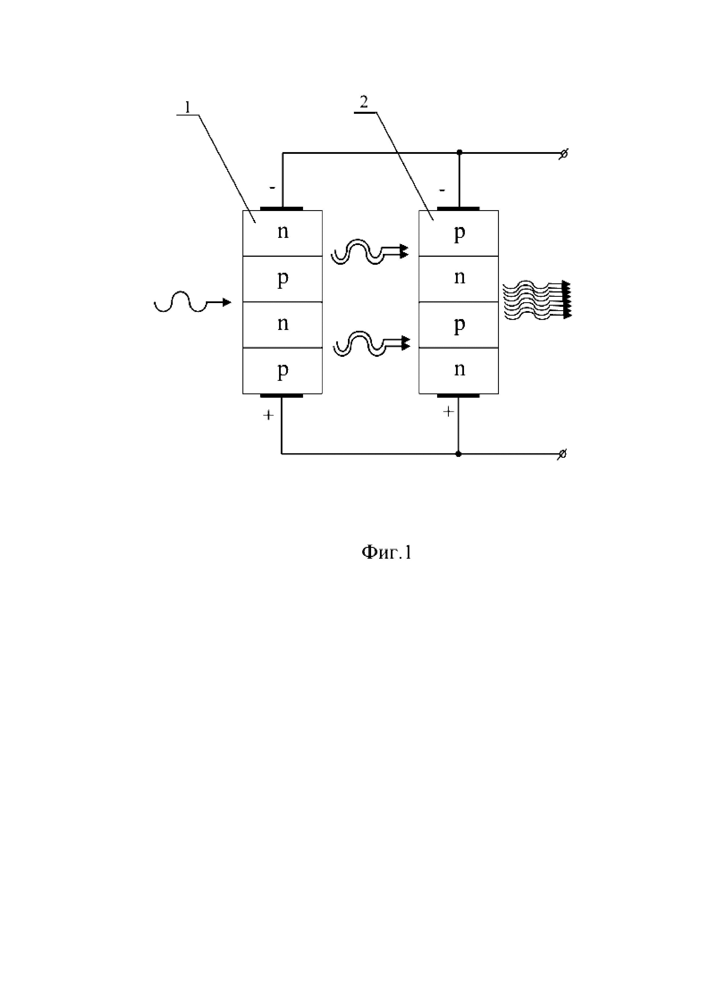 Полупроводниковое устройство усиления потока фотонов с фоточувствительными и светоизлучающими p-n-переходами