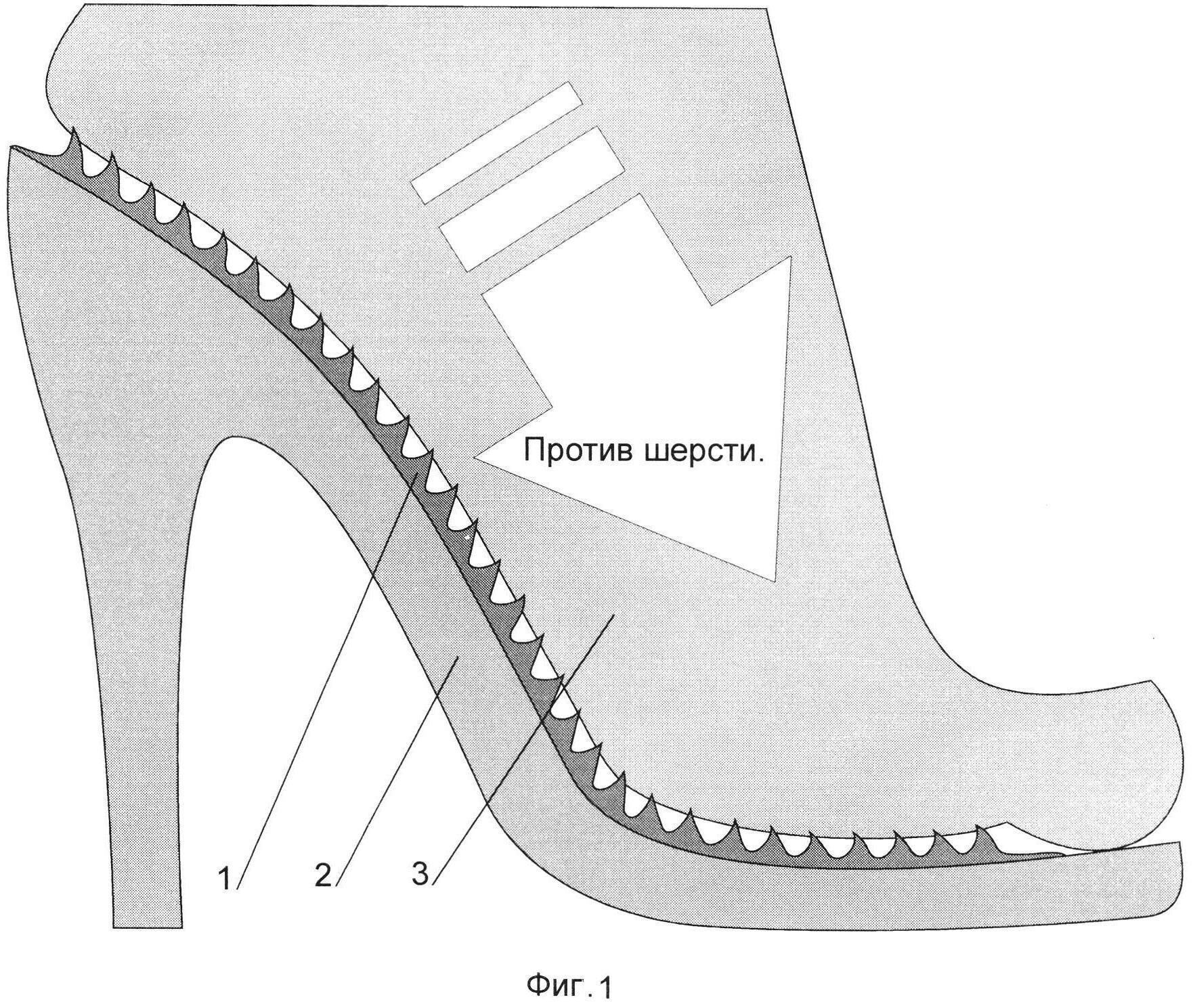 Облегчающая стелька для обуви на каблуке