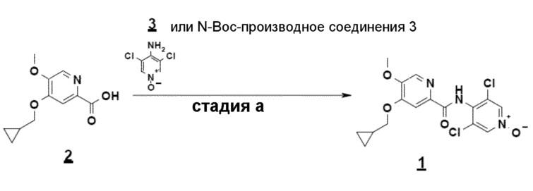 Способ получения 4-(циклопропилметокси)-n-(3,5-дихлор-1-оксидо-4-пиридил)-5-метоксипиридин-2-карбоксамида