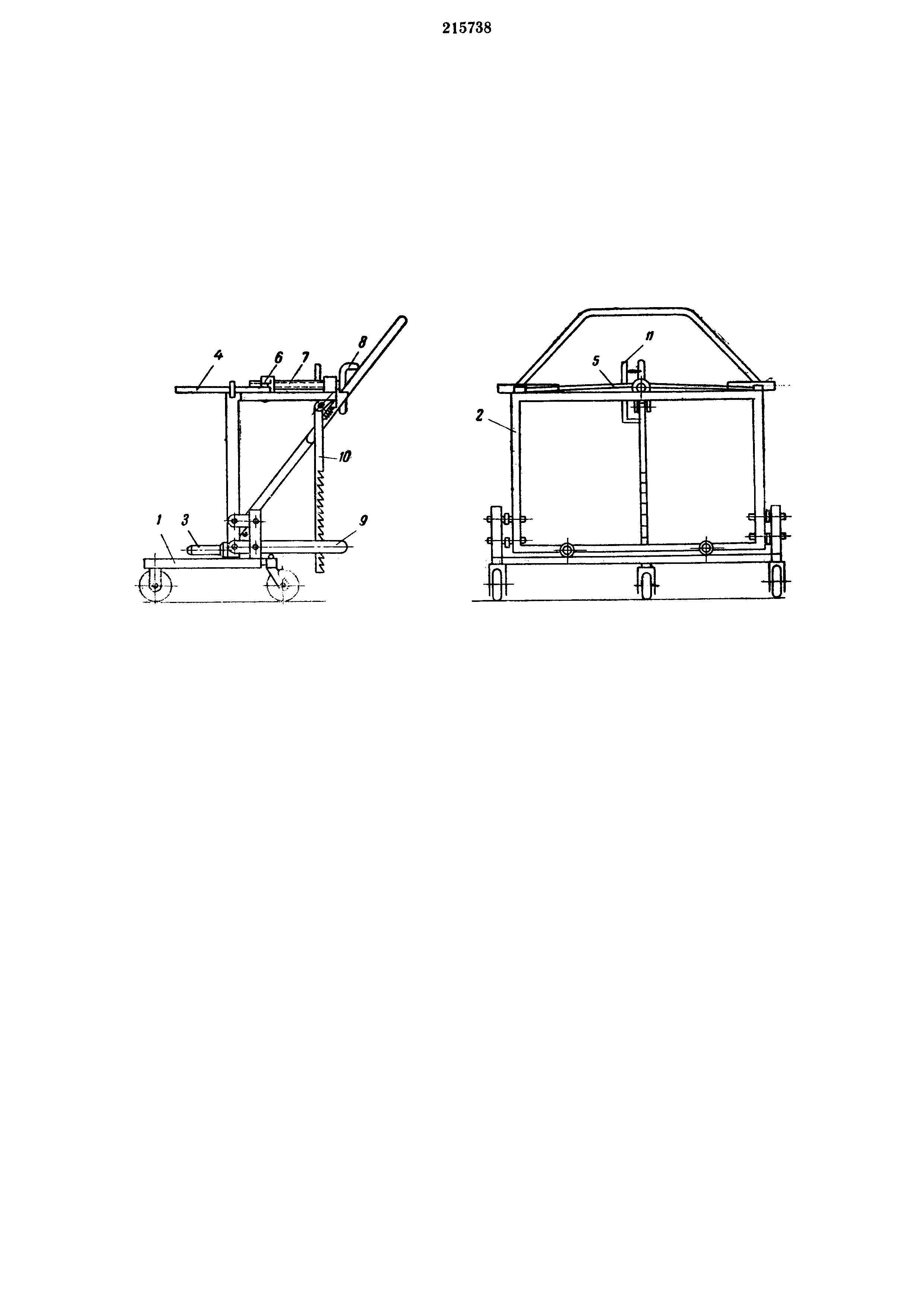 Передвижной механический колесосъемник