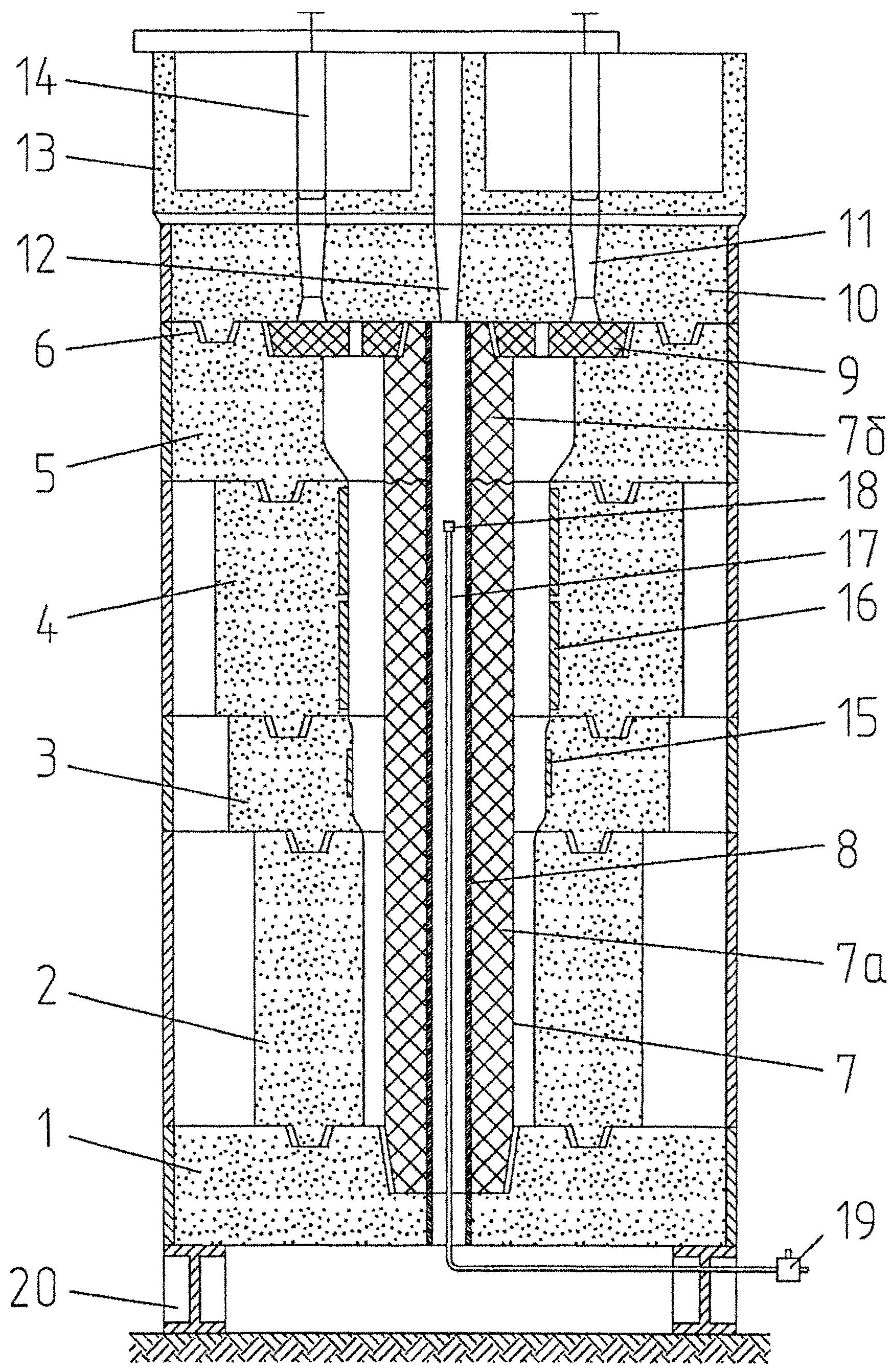 Литейная форма для изготовления крупнотоннажных разностенных чугунных отливок типа втулок