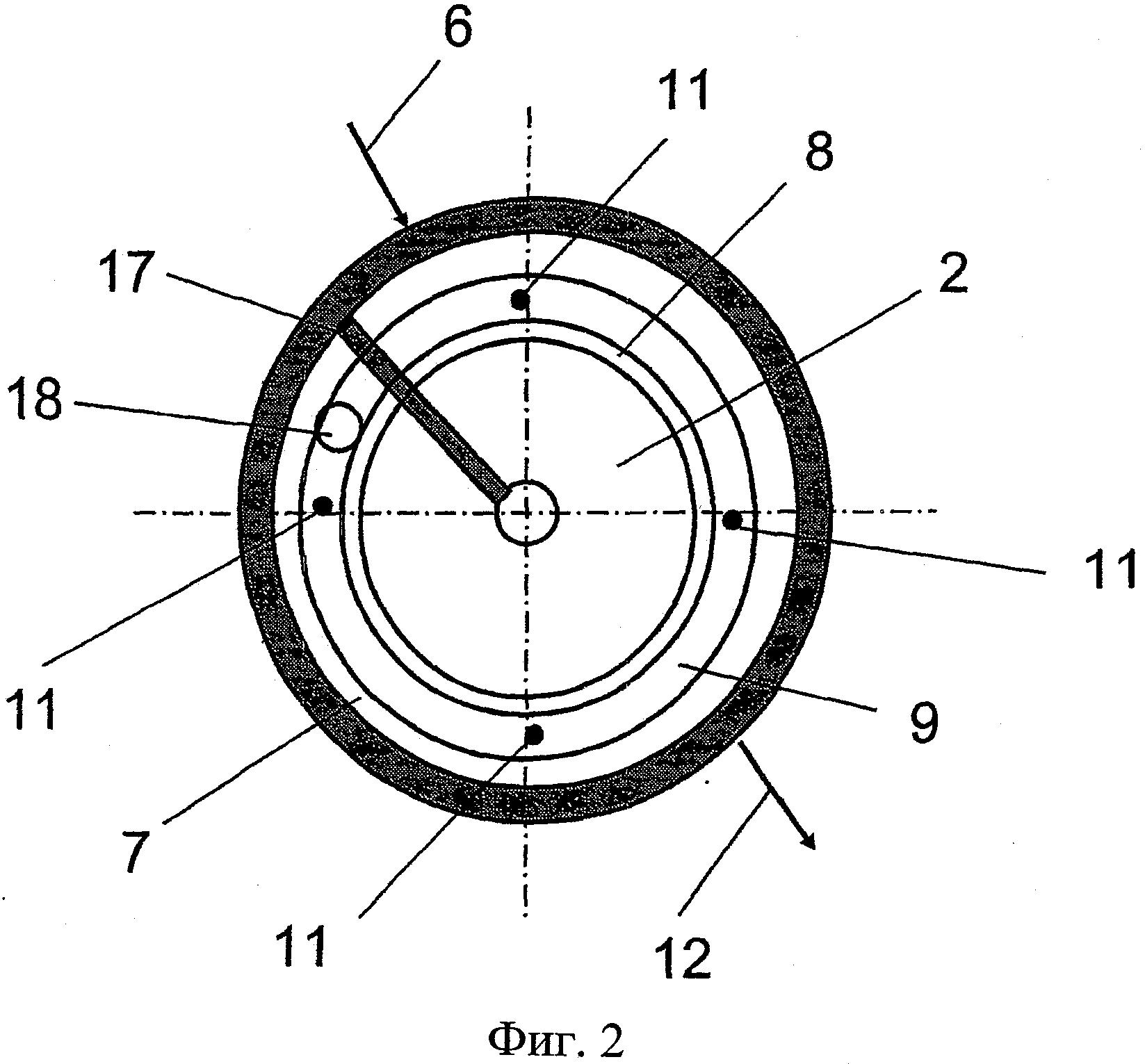 Способ и устройство для обработки мелкозернистого материала в фонтанирующем слое
