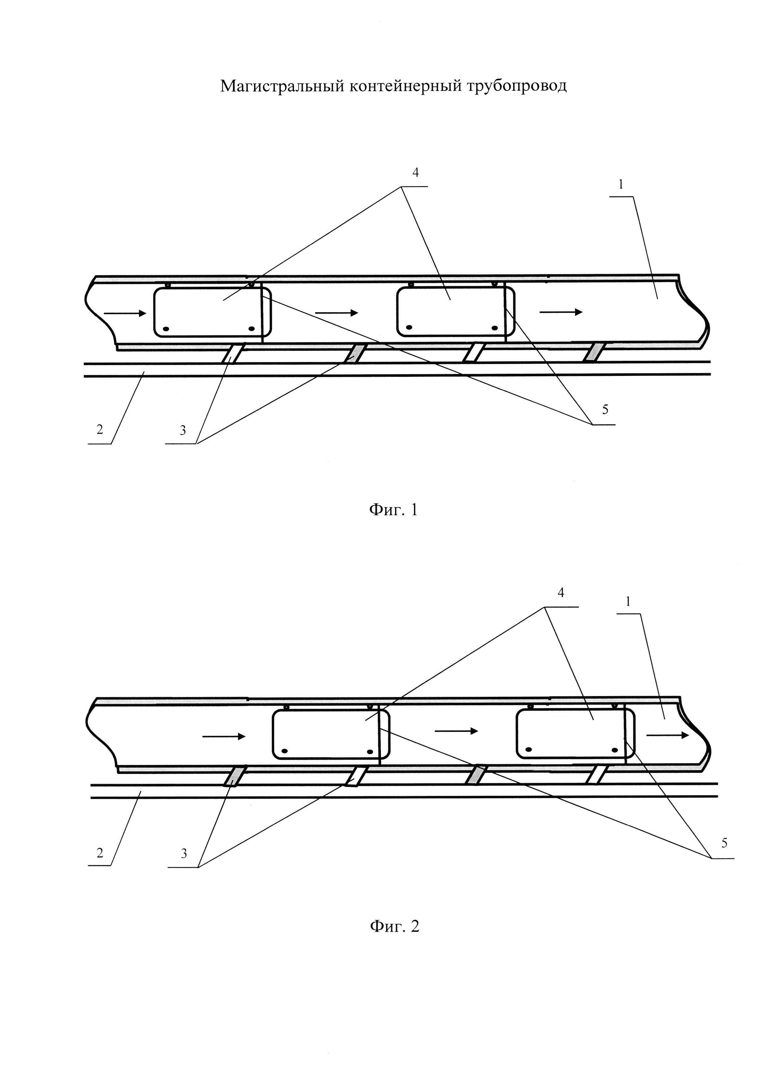 Магистральный контейнерный трубопровод