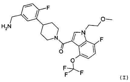 [4-(5-аминометил-2-фторфенил)-пиперидин-1-ил]-[7-фтор-1-(2-метоксиэтил)-4-трифторметокси-1н-индол-3-ил]-метанон как ингибитор триптазы тучных клеток