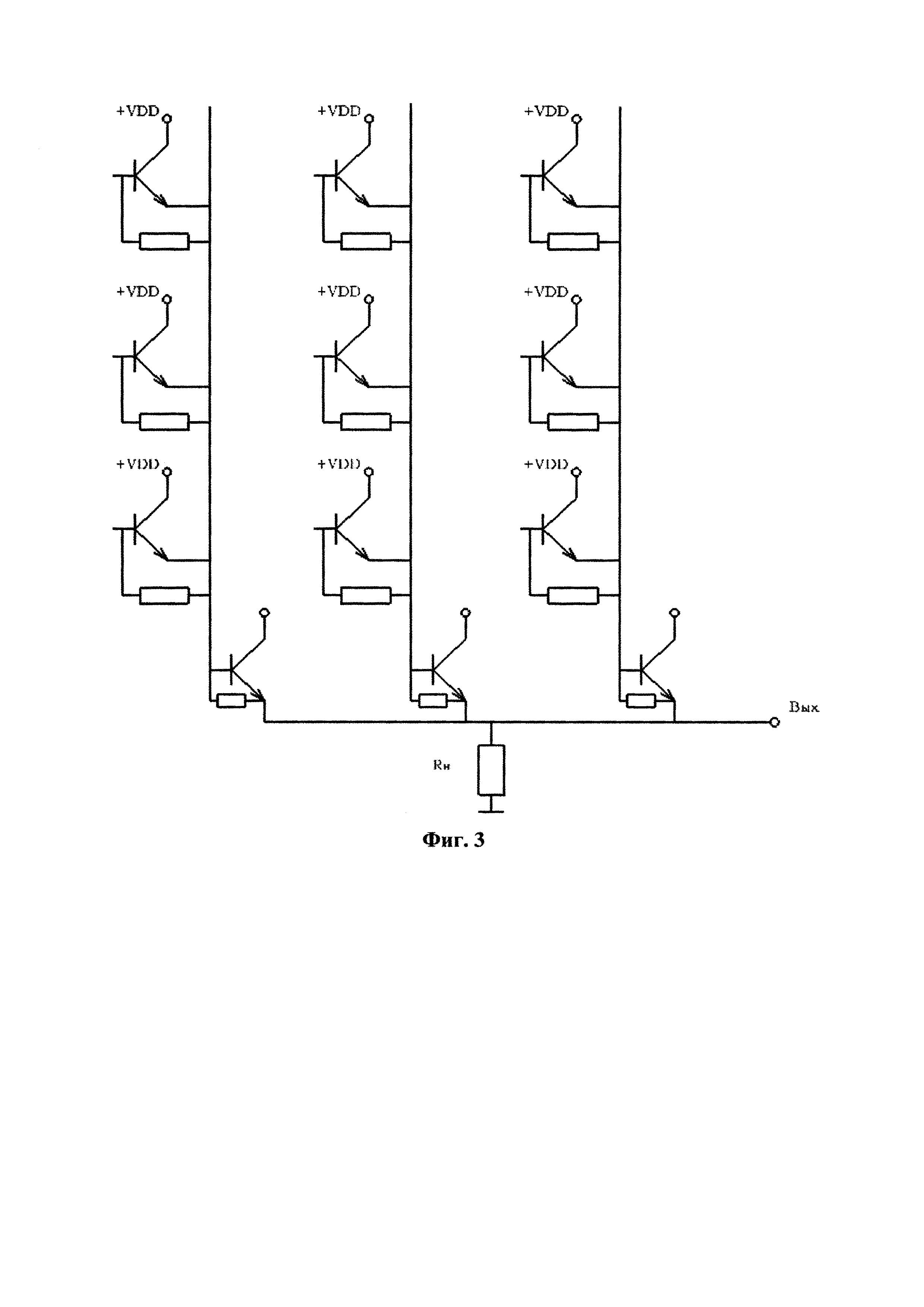 Интегральная схема быстродействующего матричного приемника оптических излучений
