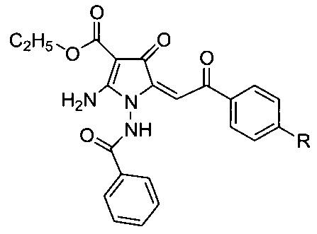 Этиловые эфиры 2-амино-1-бензоиламино-4-оксо-5-(2-оксо-2-арил-этилиден)-4,5-дигидро-1h-пирролидин-3-карбоновых кислот, проявляющие противоопухолевую активность, и способ их получения