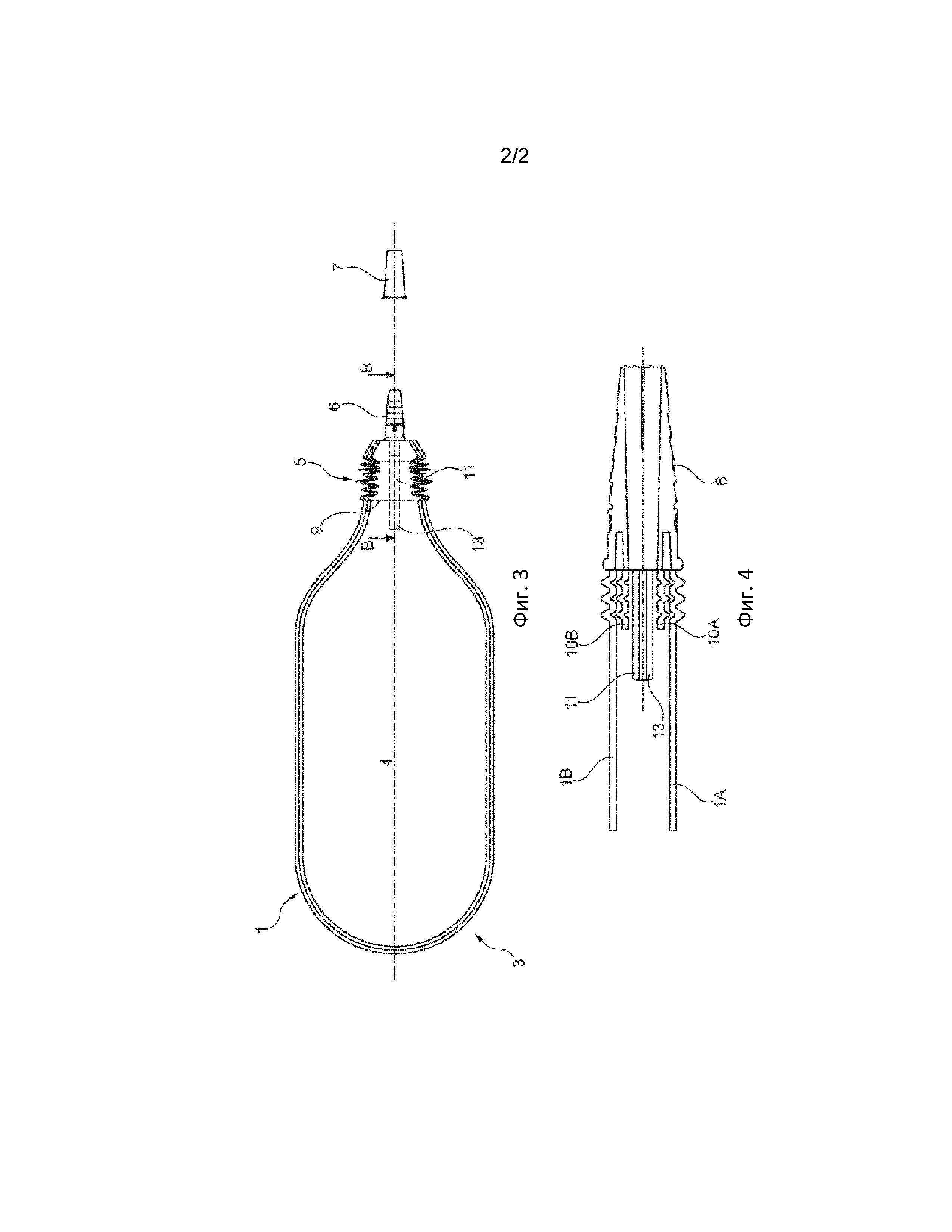 Мочеприемный мешок с антирефлюксным клапаном
