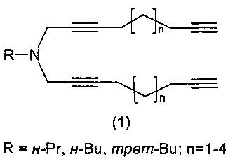 Способ получения n-алкил-n,n-ди(алкадиинил)аминов
