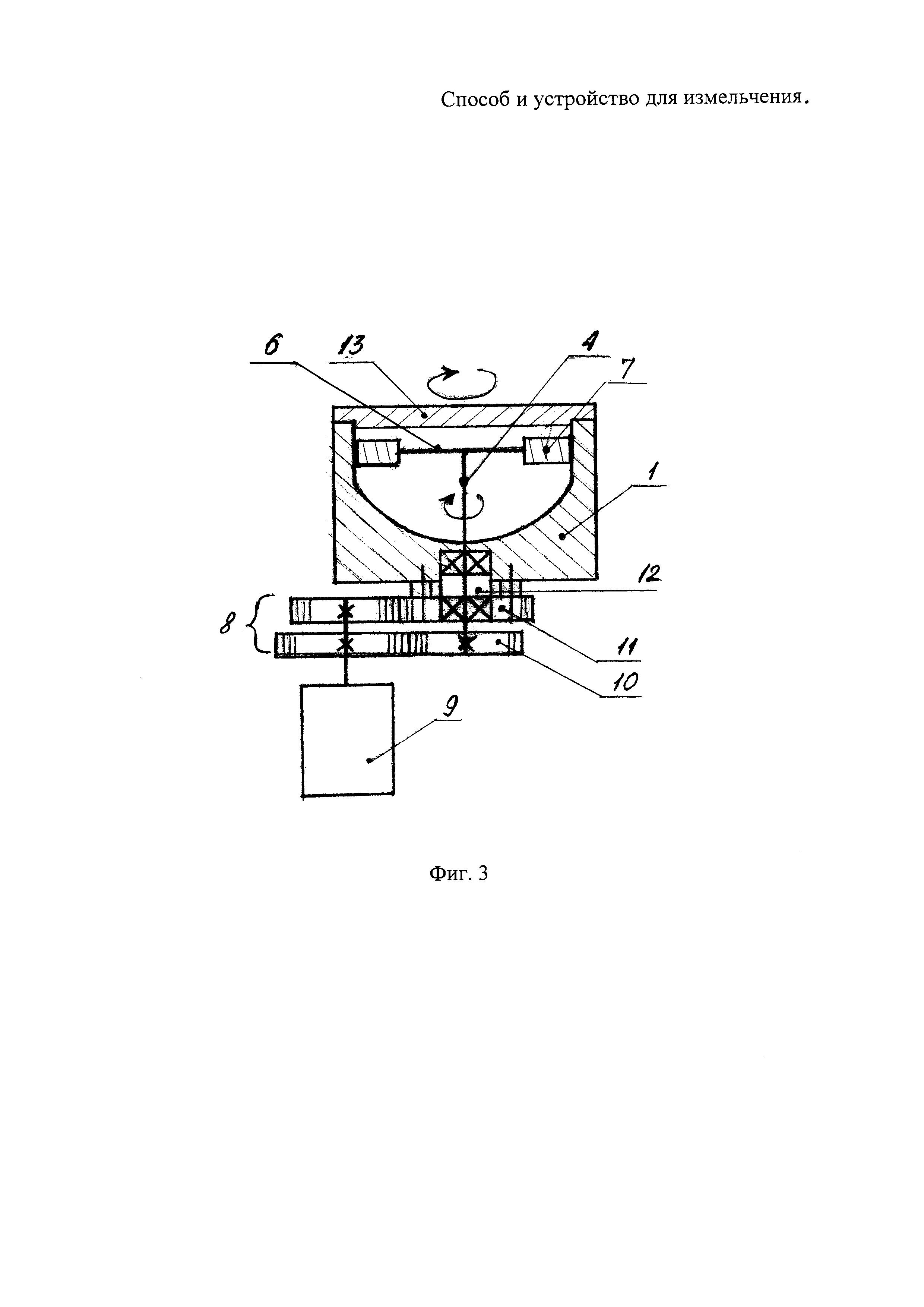 Способ и устройство для измельчения сыпучих материалов