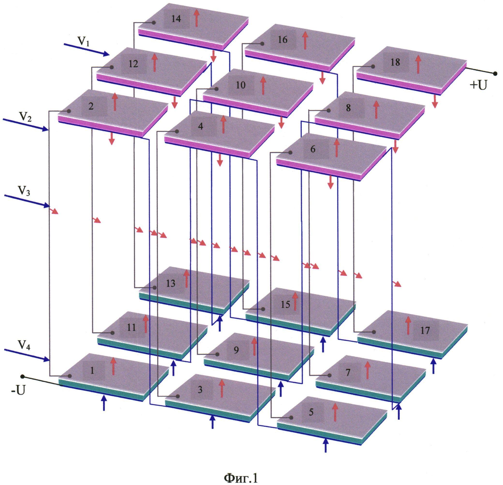 Термоэлектрическое устройство с тонкопленочными полупроводниковыми ветвями и увеличенной поверхностью теплоотвода