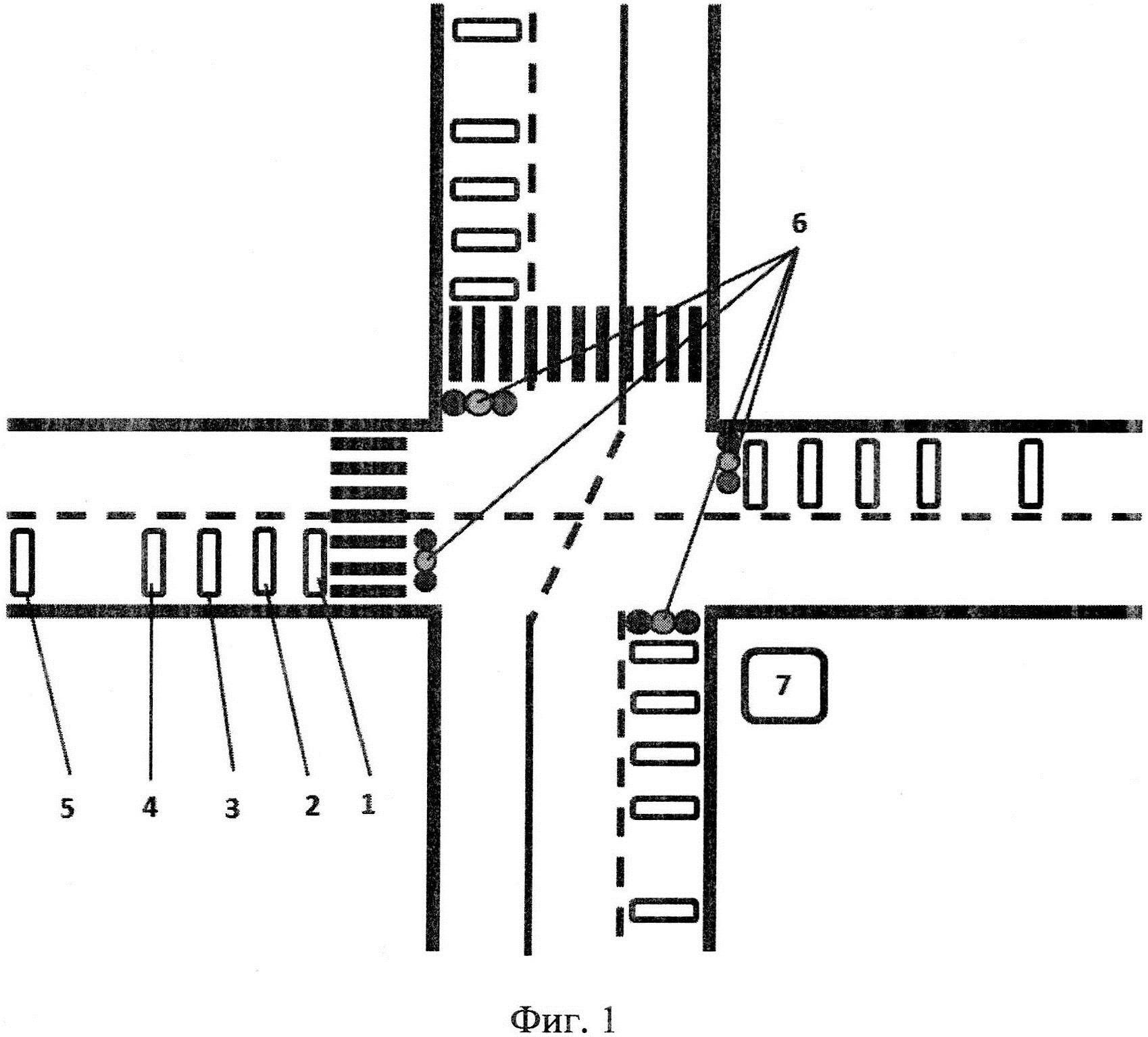 Способ адаптивного управления работой светофора на регулируемом перекрёстке