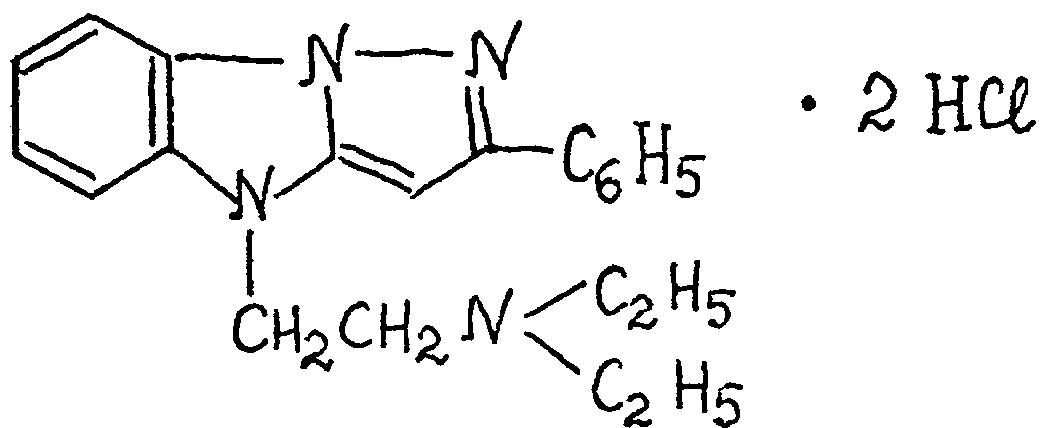 Дигидрохлориды 2-фенил-4-β-диалкиламиноэтилпиразоло/1,5-а/бензимидазолов, обладающие антиаритмической и гипотензивной активностью