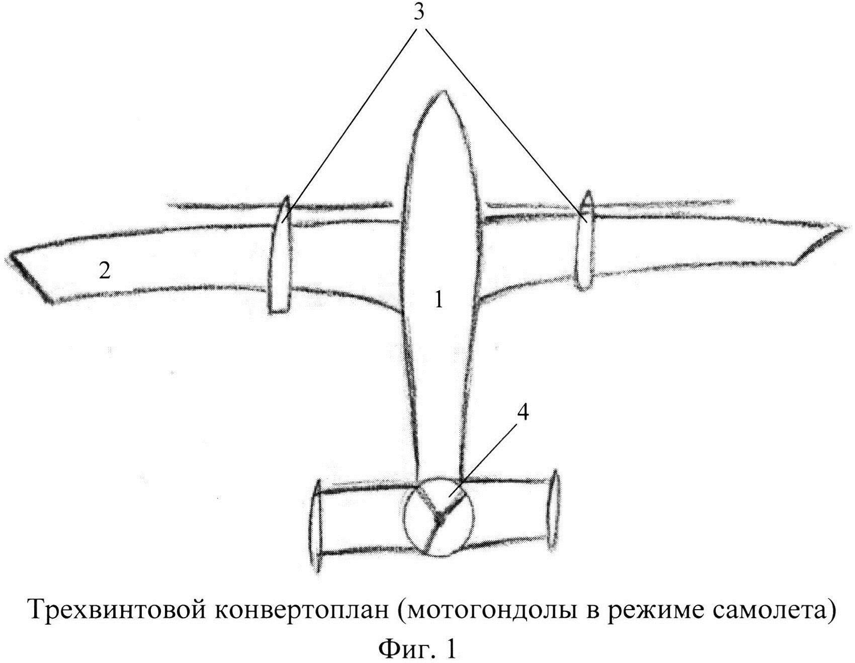 Трехвинтовой конвертоплан