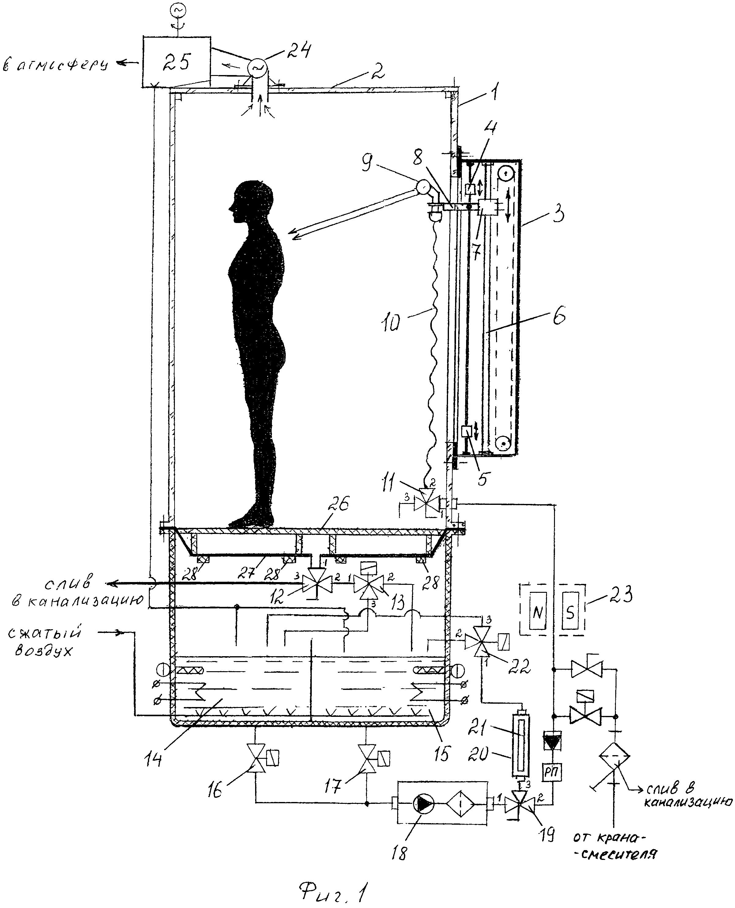 Способ проведения водных процедур в гидромассажной кабине